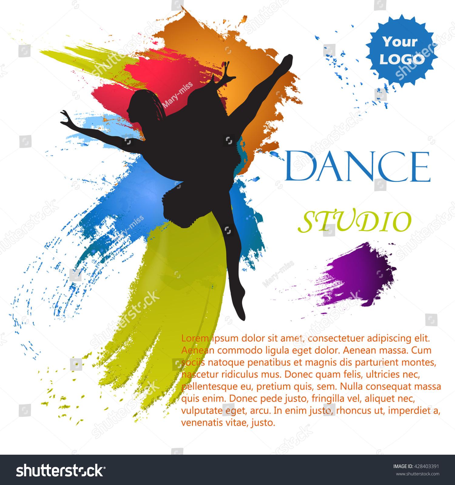Vector Illustration Dance Studio Suitable For Billboards Posters Booklets Postcards