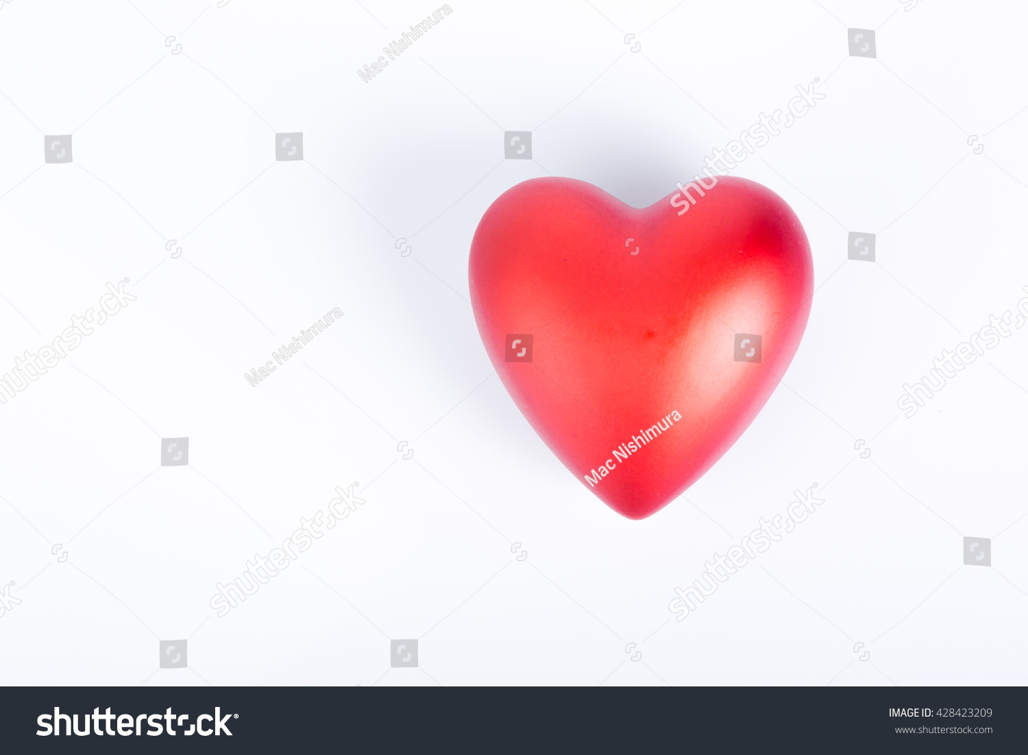 Heart Red Love Symbol Happy Valentine 3d Render On Isolated White