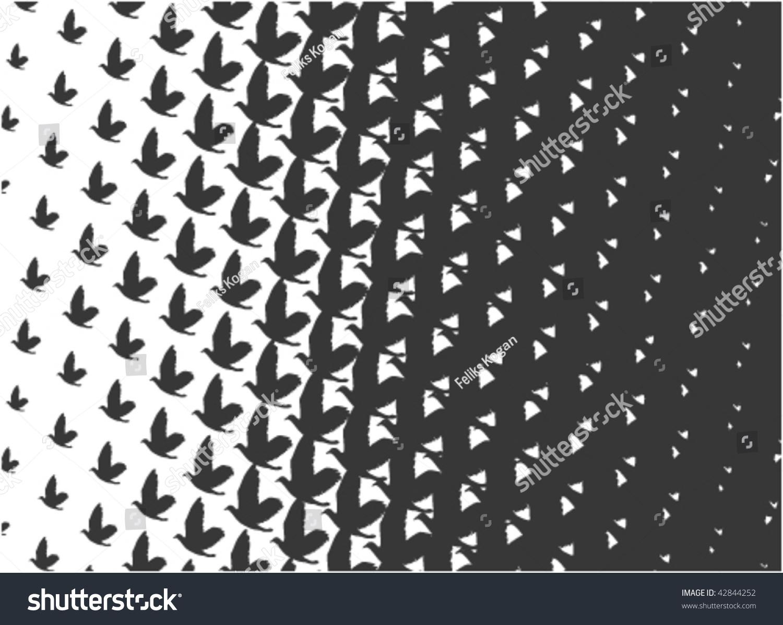 鳥を描いたエッシャー式の文様 のベクター画像素材 ロイヤリティフリー