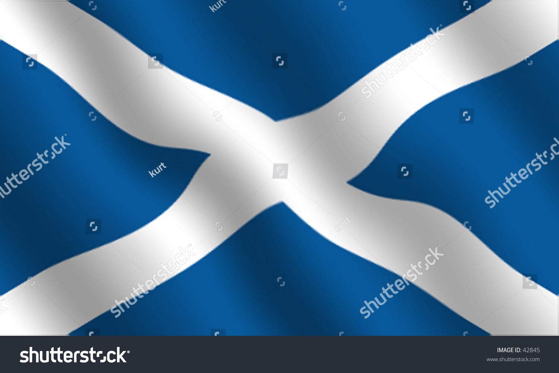 scottish flag waving effect stock illustration 42845 shutterstock