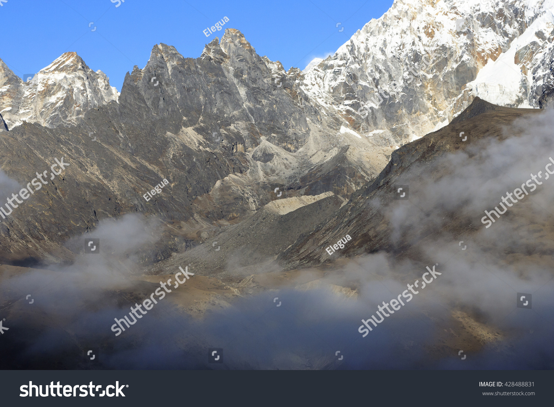 2b71b358c724 Mountains Clouds Sagarmatha National Park Nepal Stock Photo (Edit ...