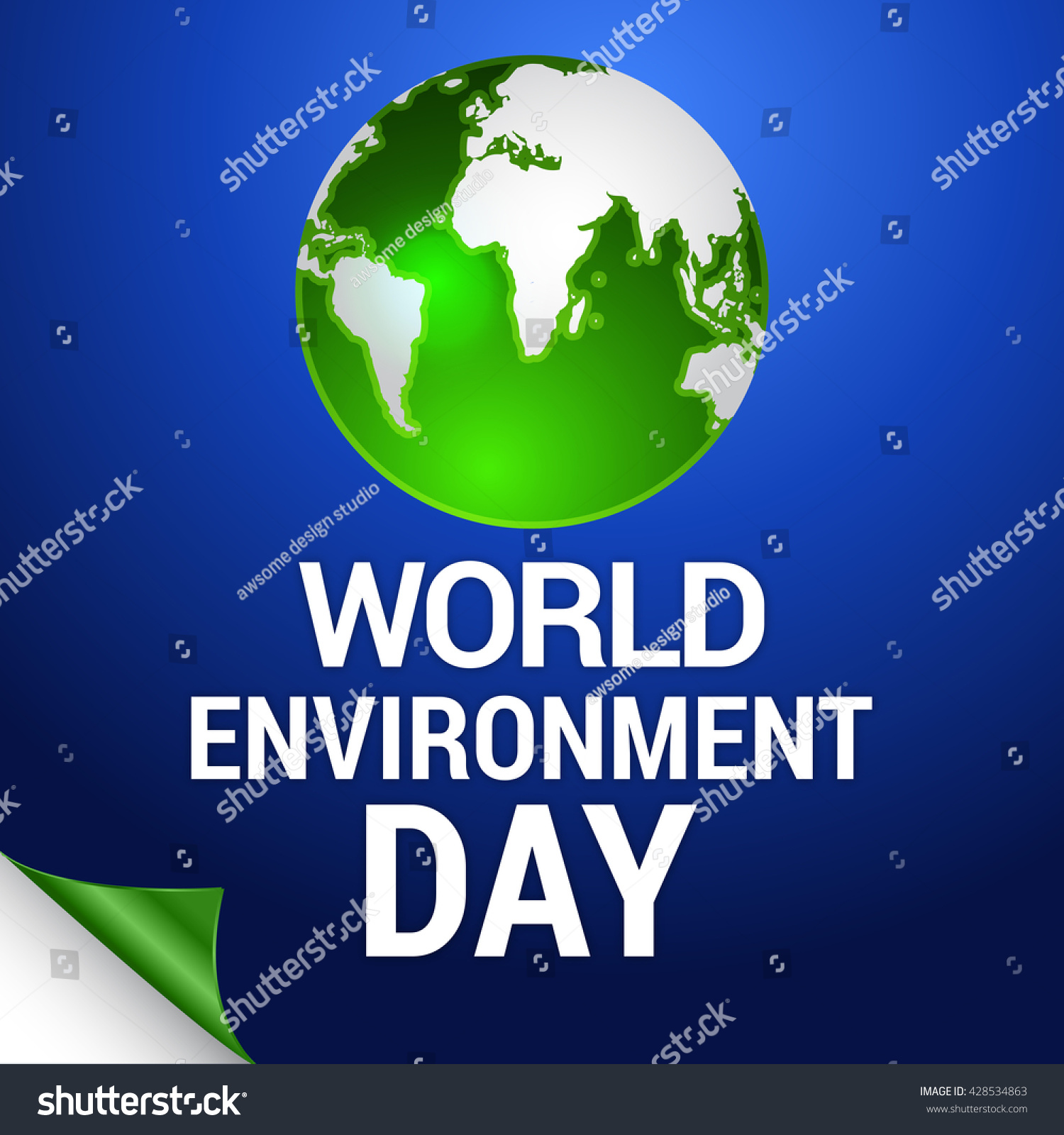 Poster design environment day - Vector Illustration Eco Poster Eco Banner Or Eco Card For World Environment Day