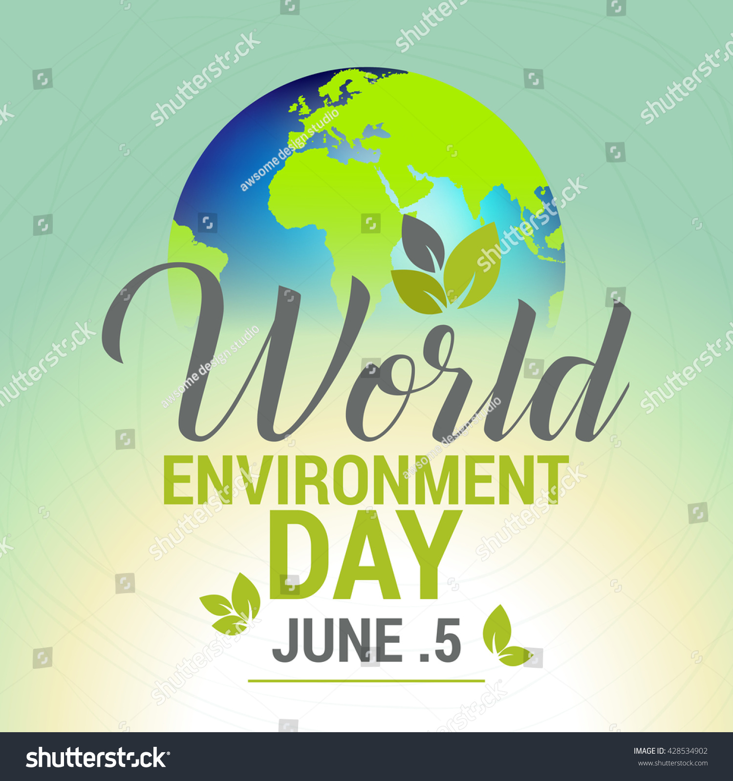 Poster design environment - Vector Illustration Eco Poster Eco Banner Or Eco Card For World Environment Day With