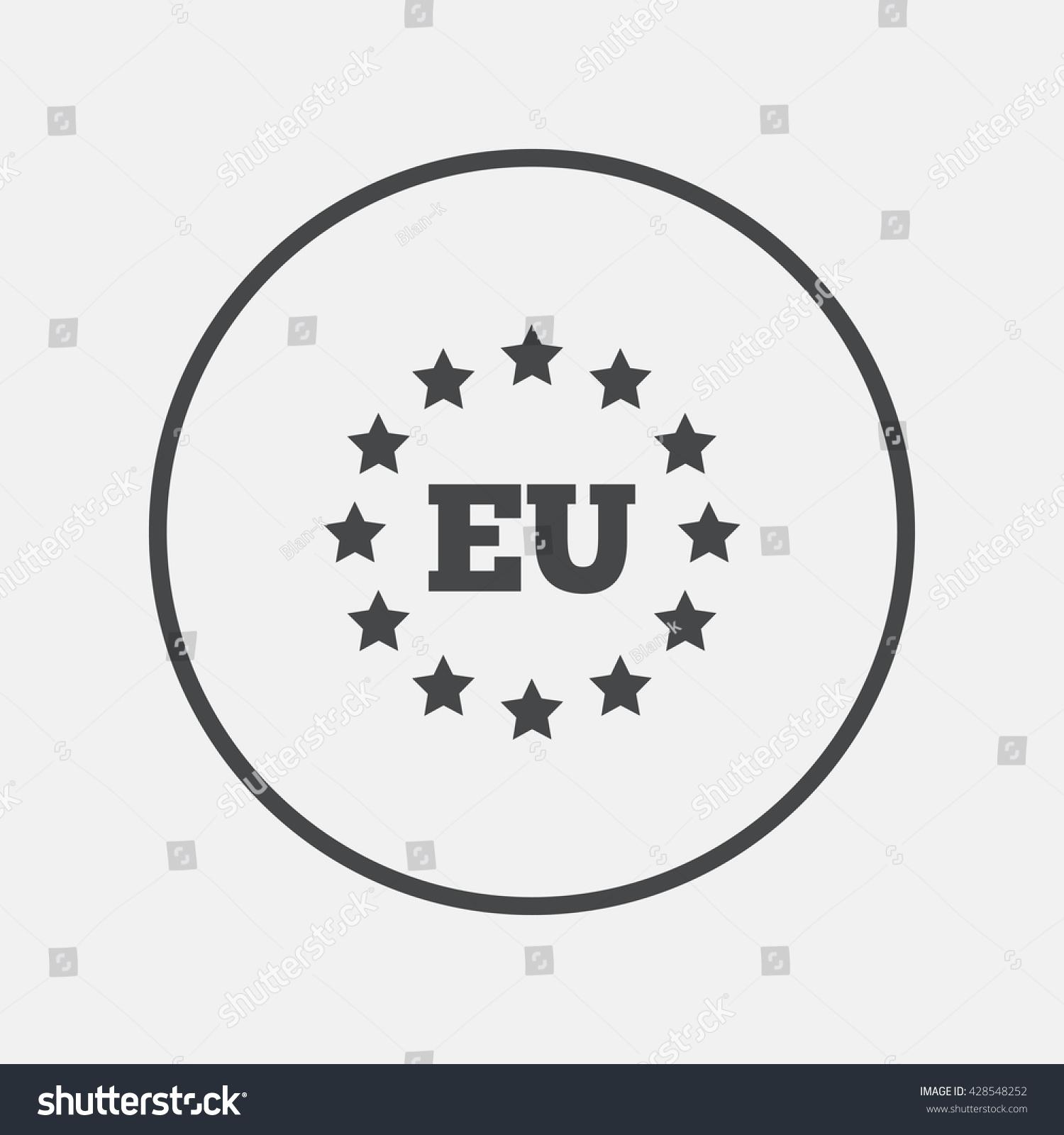 European union icon eu stars symbol stock vector 428548252 eu stars symbol round button with flat icon vector biocorpaavc