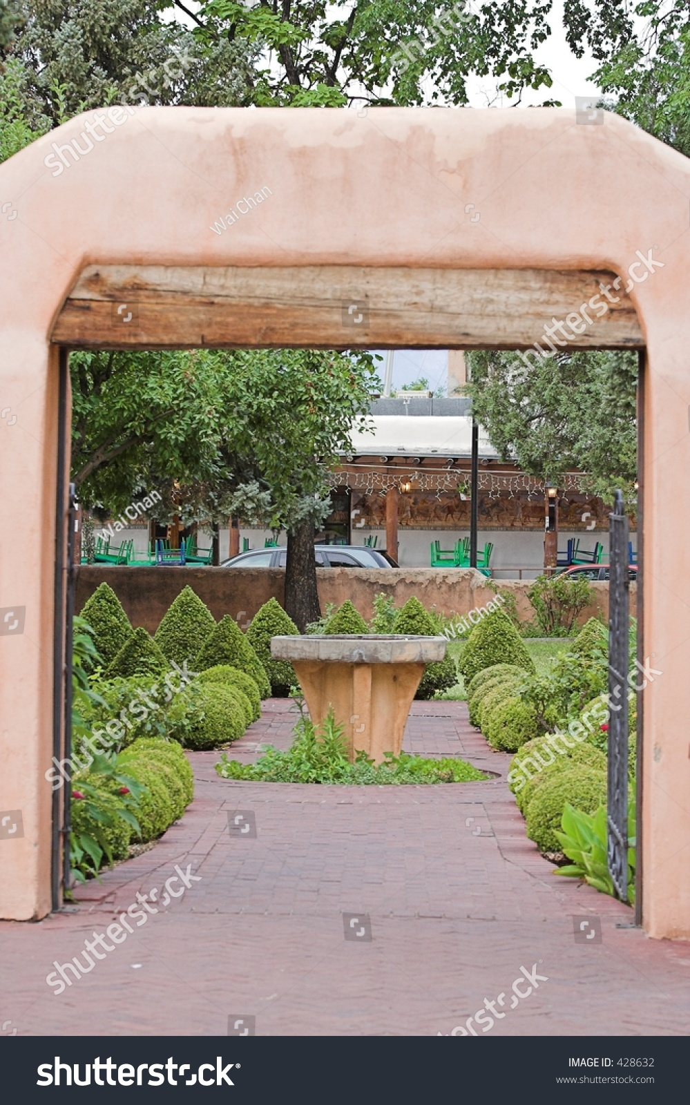 New Mexican Style Architecture Garden