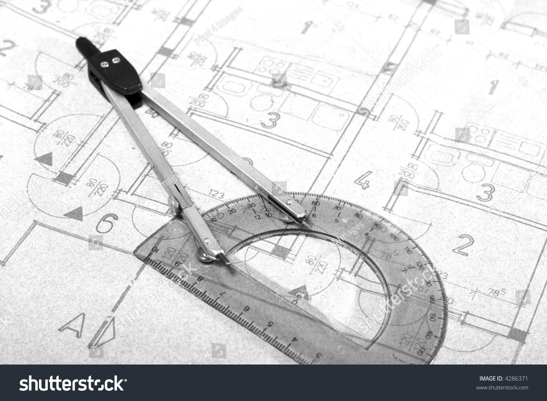 Architecture blueprint document engineering concept stock for Architectural engineering concepts