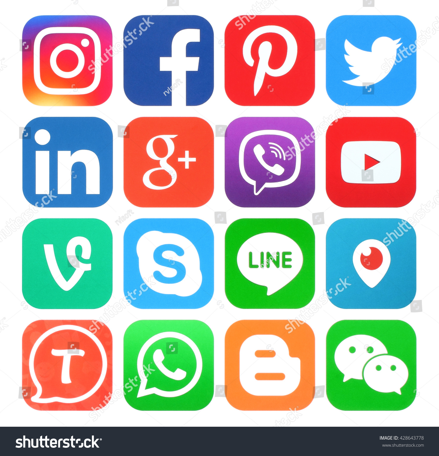 Social media icons linkedin
