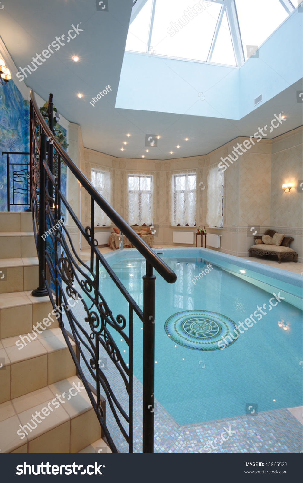 Luxury Indoor Swimming Pool Design Stock Photo Edit Now 42865522