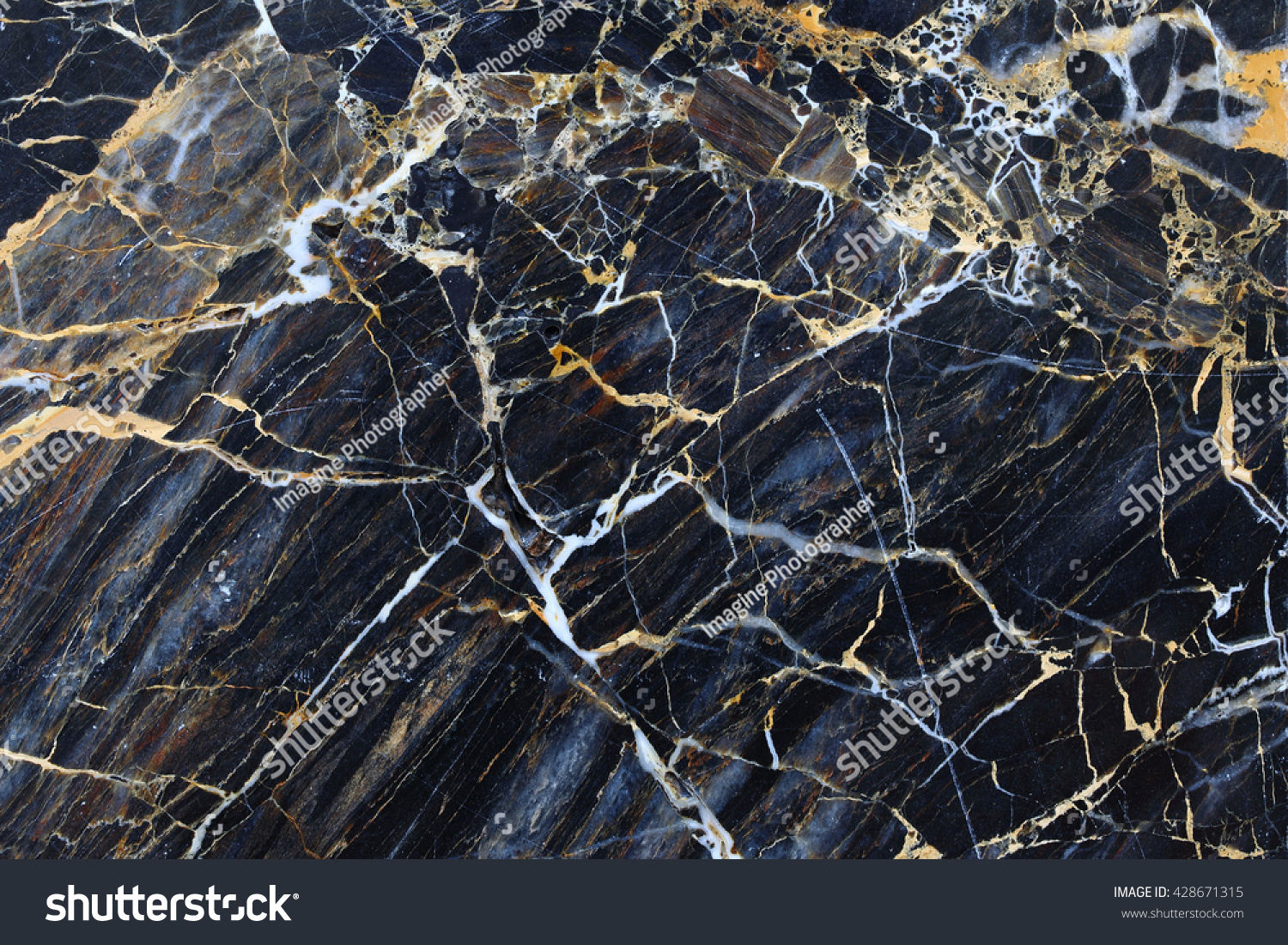 Gold Pattern Natural Dark Gray Marble Stock Photo Edit Now 428671315