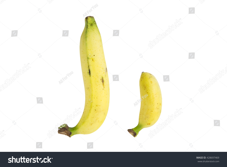 Baby Banana Compare Size Banana Isolate Stock Photo 428697469 ...