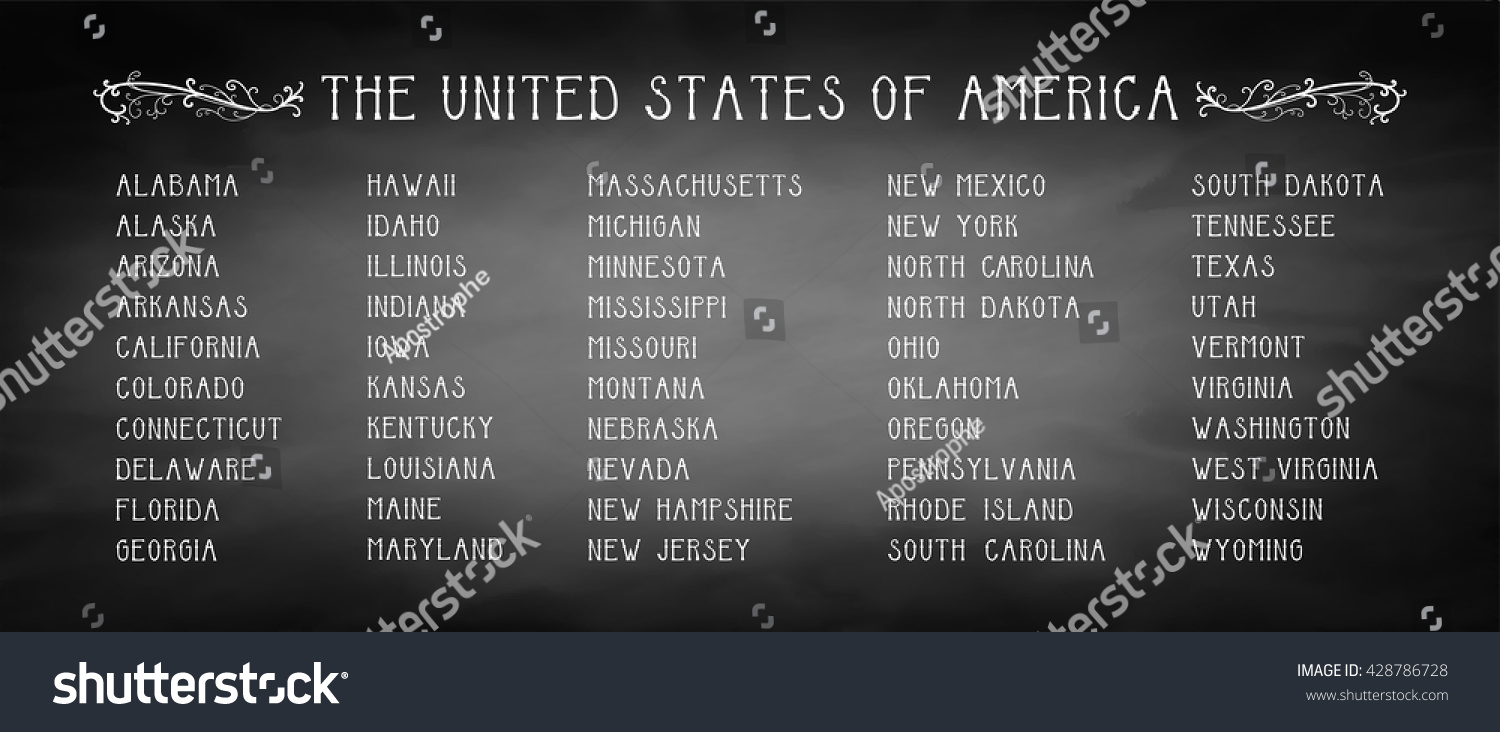 States In Alpha Order on