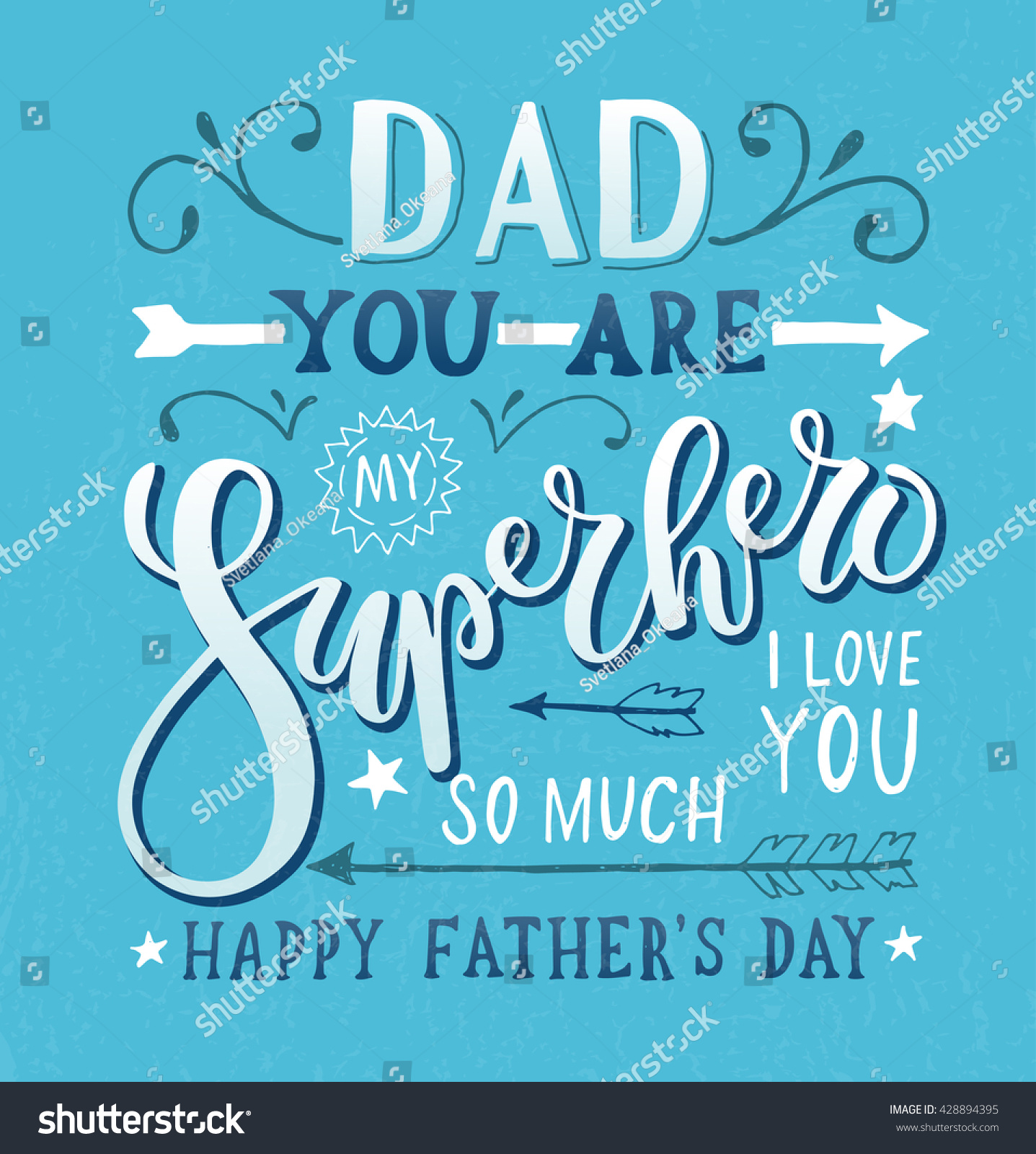 hand drawn typography poster dad you stock vector 428894395 shutterstock