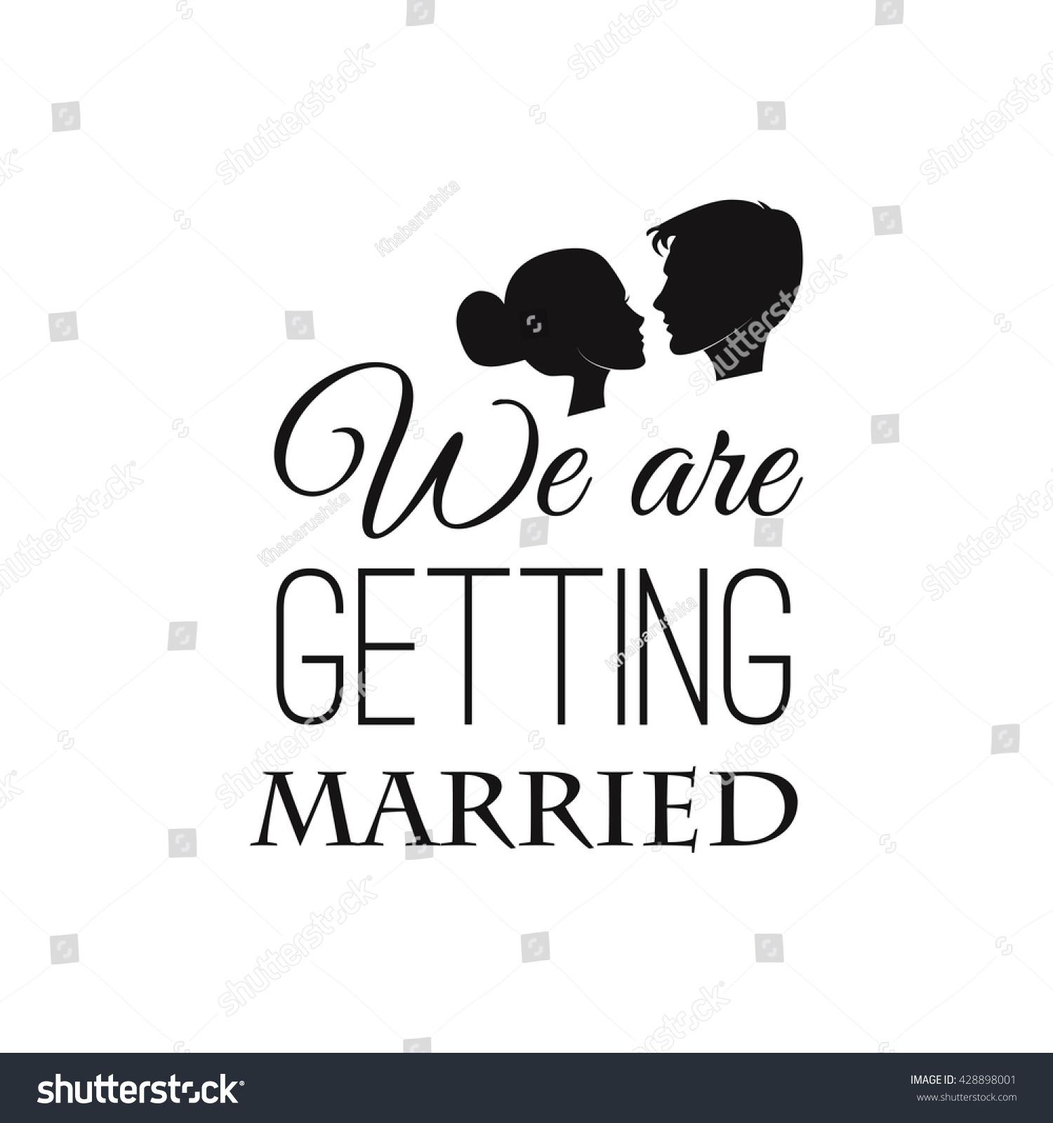 Wedding invitation vector silhouette bride groom stock vector wedding invitation vector silhouette bride groom wedding invitation profile of wedding couple profile stopboris Images