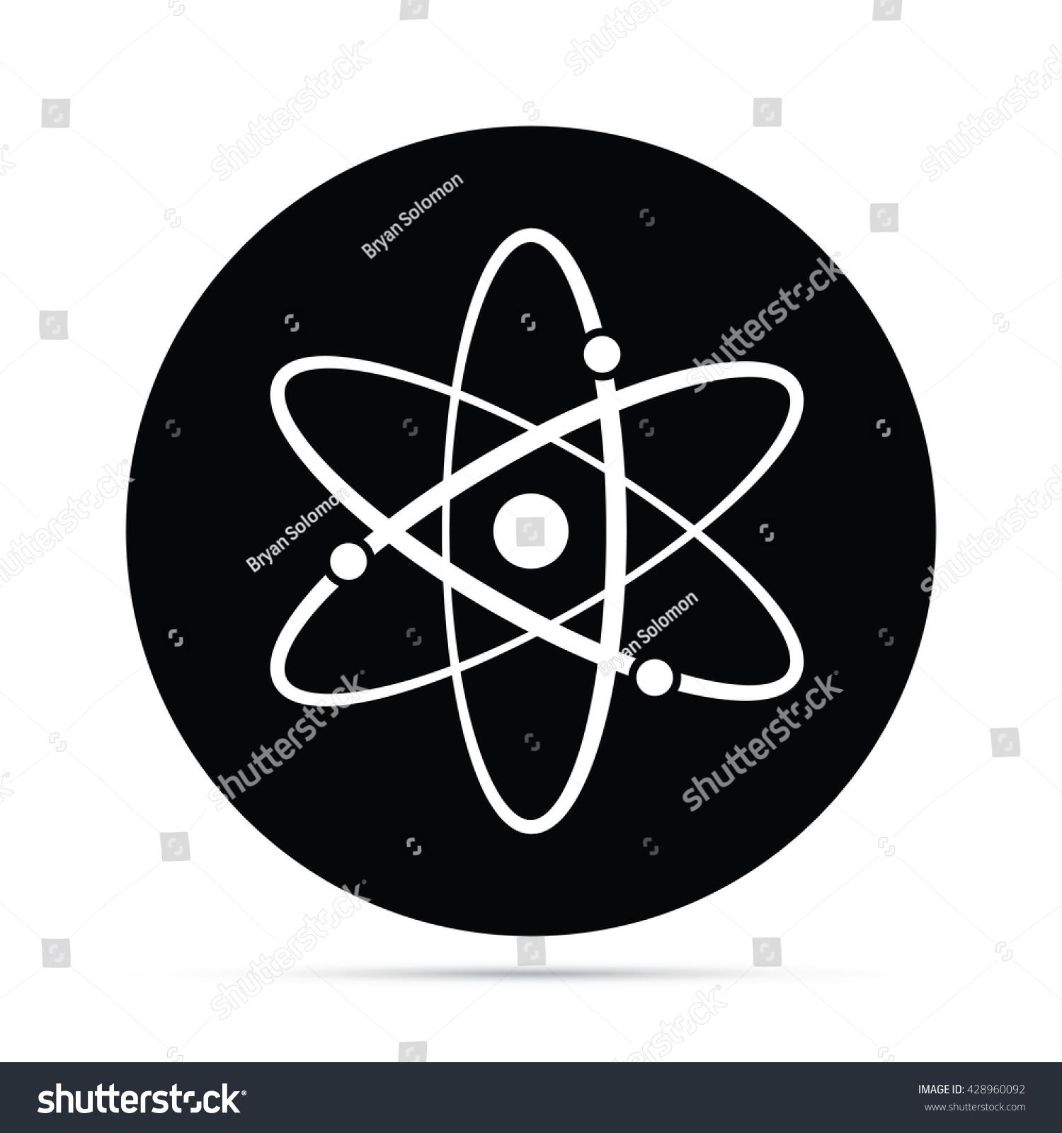 Atomic Symbol Icon Circle Icon Stock Photo Photo Vector