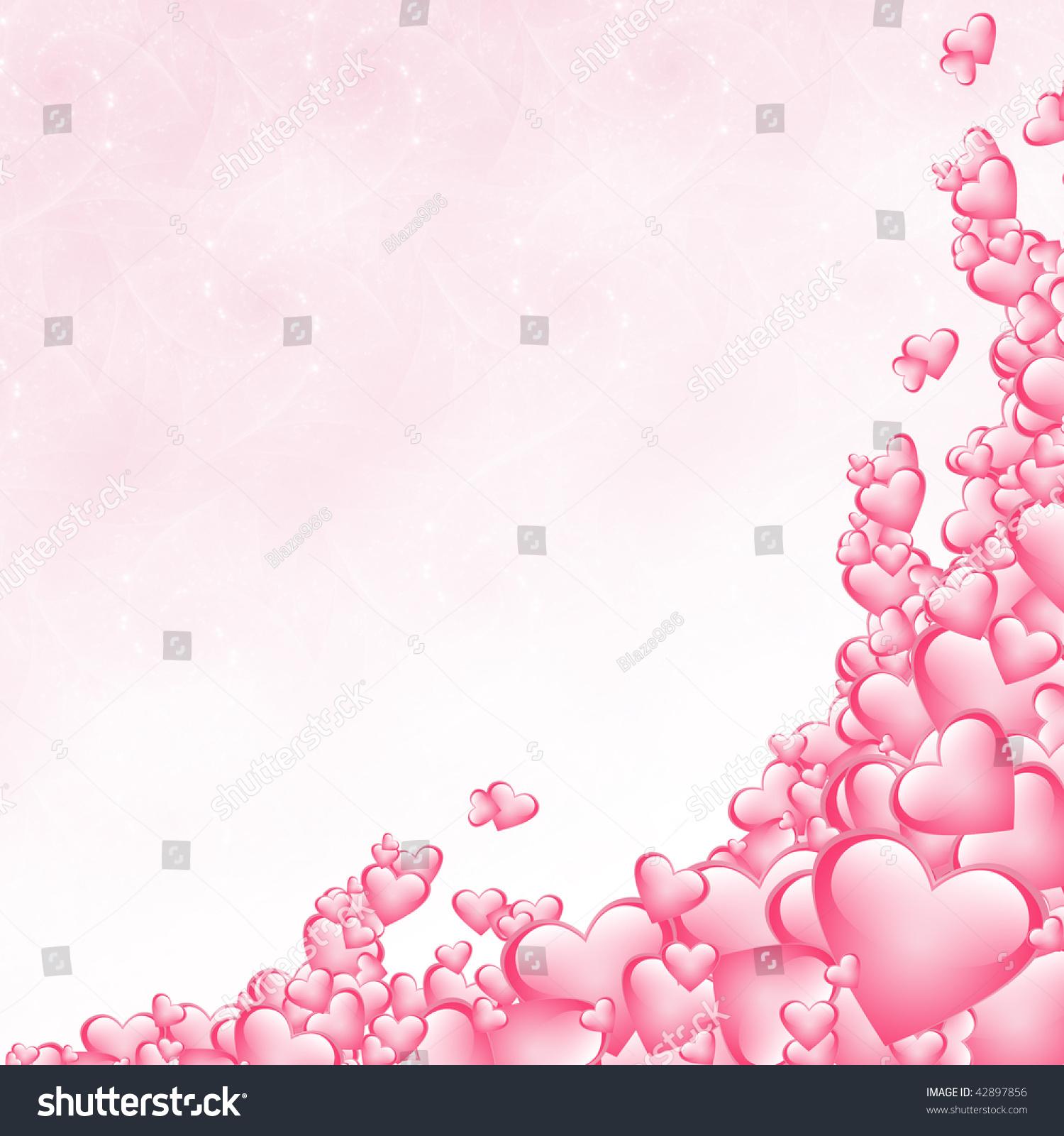 pink hearts background valentines card stock illustration 42897856