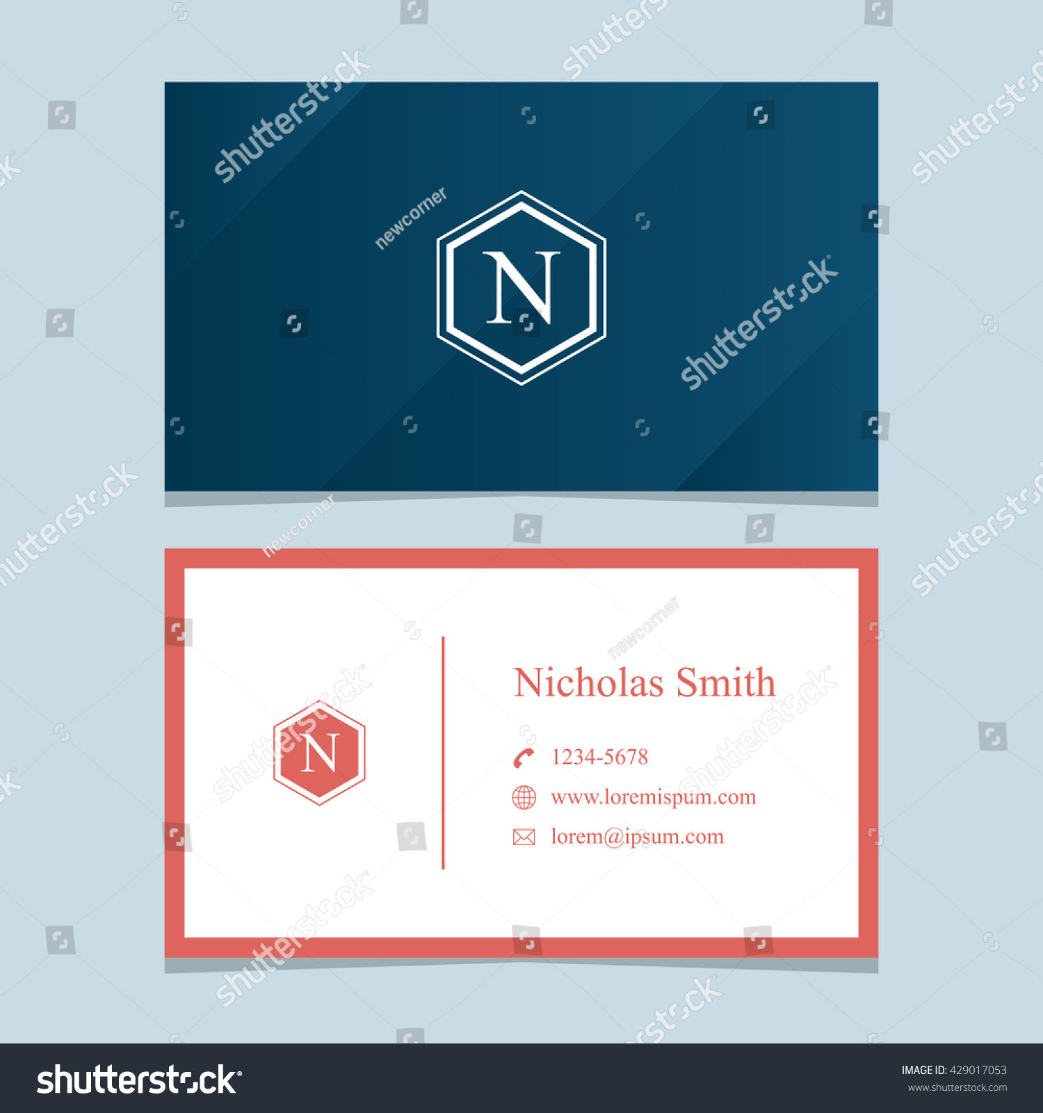Logo alphabet letter n business card stock vector hd royalty free logo alphabet letter n with business card template vector graphic design elements thecheapjerseys Gallery