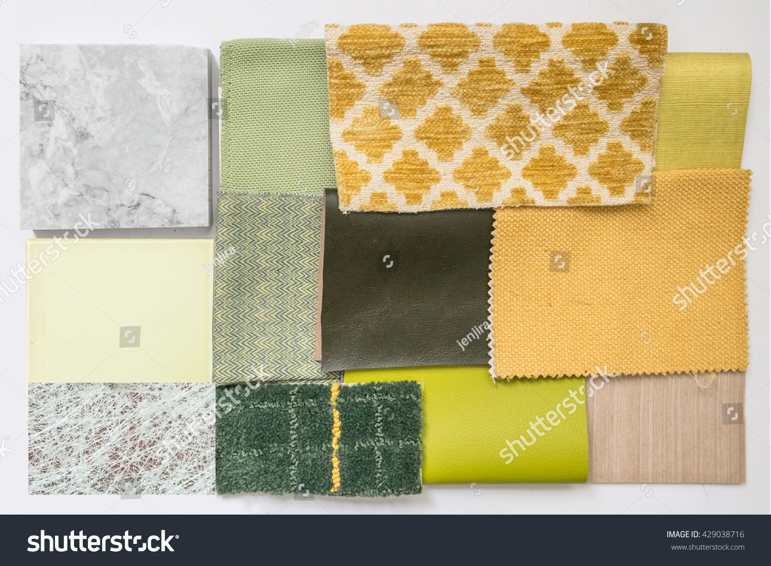Close Sample Material Color Boards Interior Stock Photo (Edit Now ...