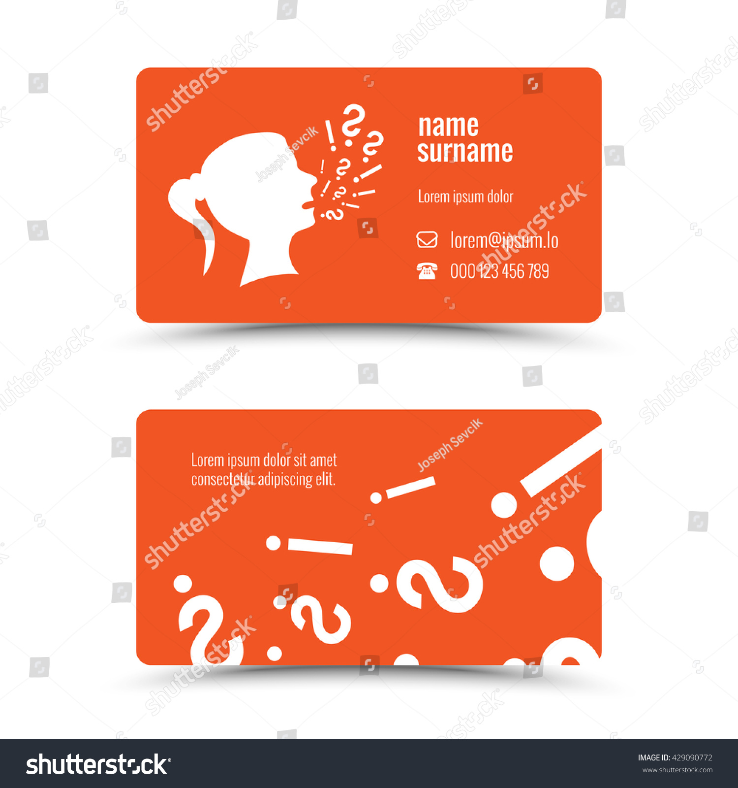 Modern business card template ask theme stock vector 429090772 modern business card template ask theme colourmoves