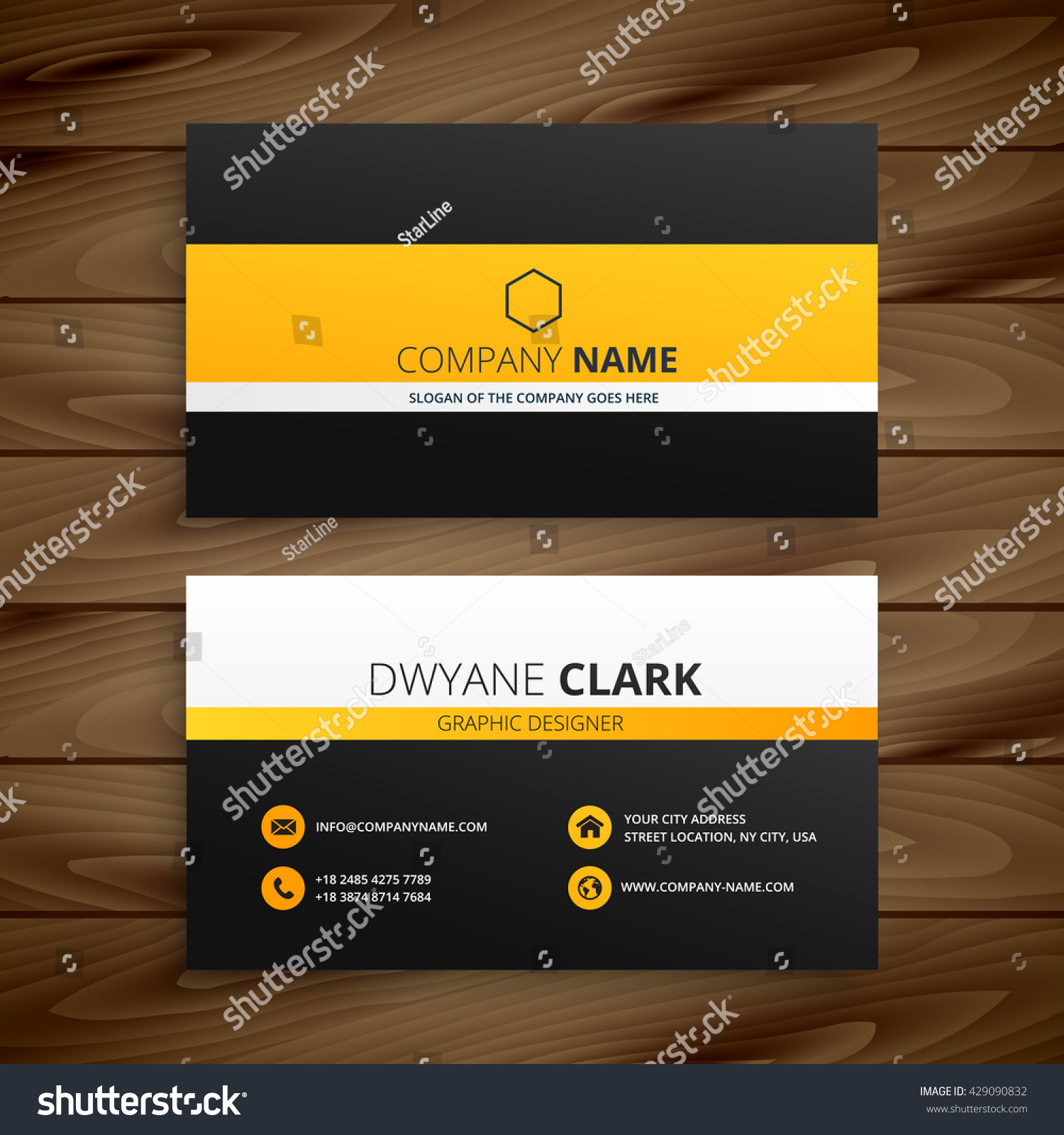 Modern business card template stock vector 429090832 shutterstock modern business card template magicingreecefo Images