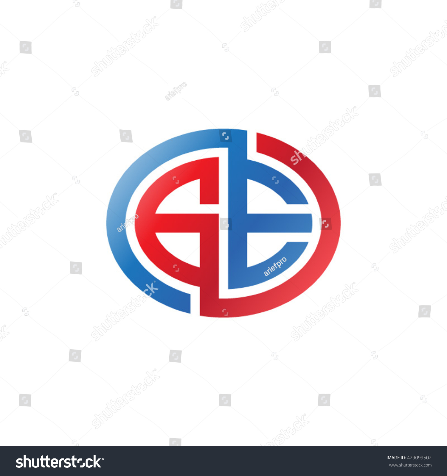Ge initial letters looping linked ellipse stock vector 429099502 ge initial letters looping linked ellipse logo red blue biocorpaavc Gallery