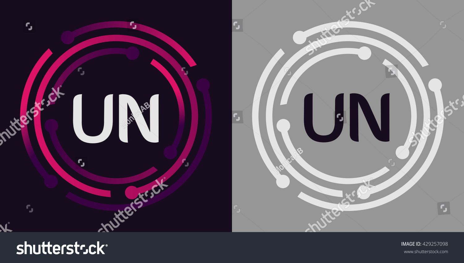 Un letters business logo icon design stock vector 429257098 un letters business logo icon design stock vector 429257098 shutterstock spiritdancerdesigns Choice Image