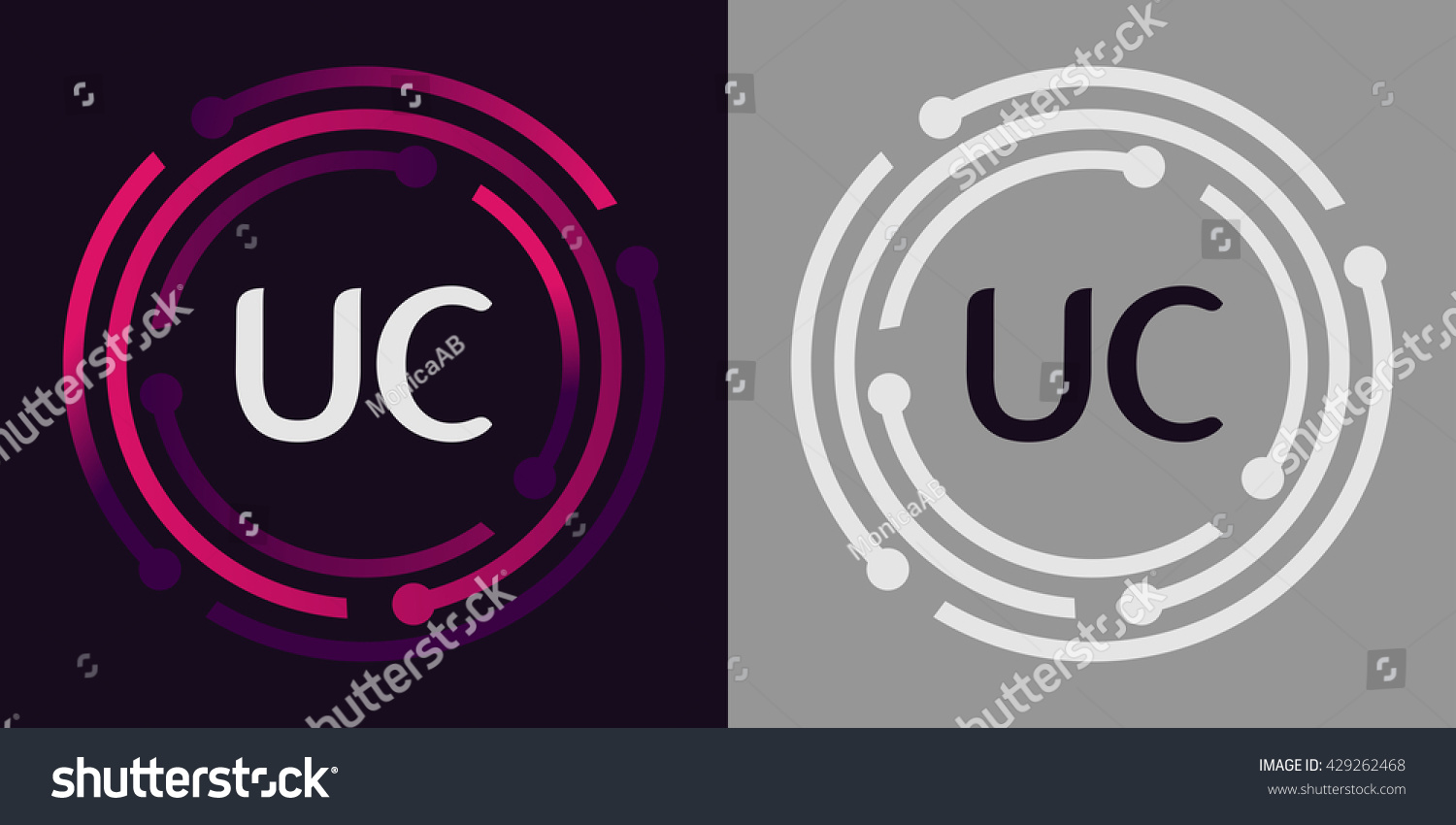 Uc letters business logo icon design stock vector royalty free uc letters business logo icon design template elements in abstract background logo design identity in wajeb Gallery
