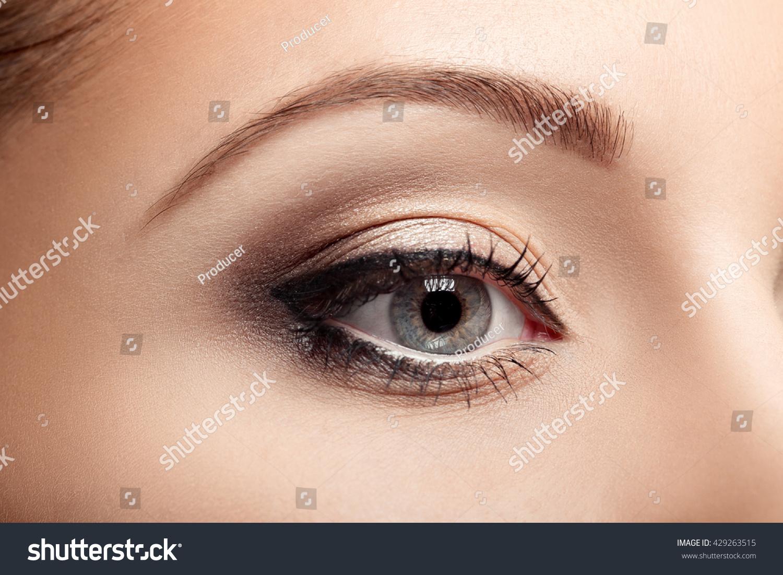 Closeup Beautiful Woman Eye Brown Makeup Stock Photo Edit Now