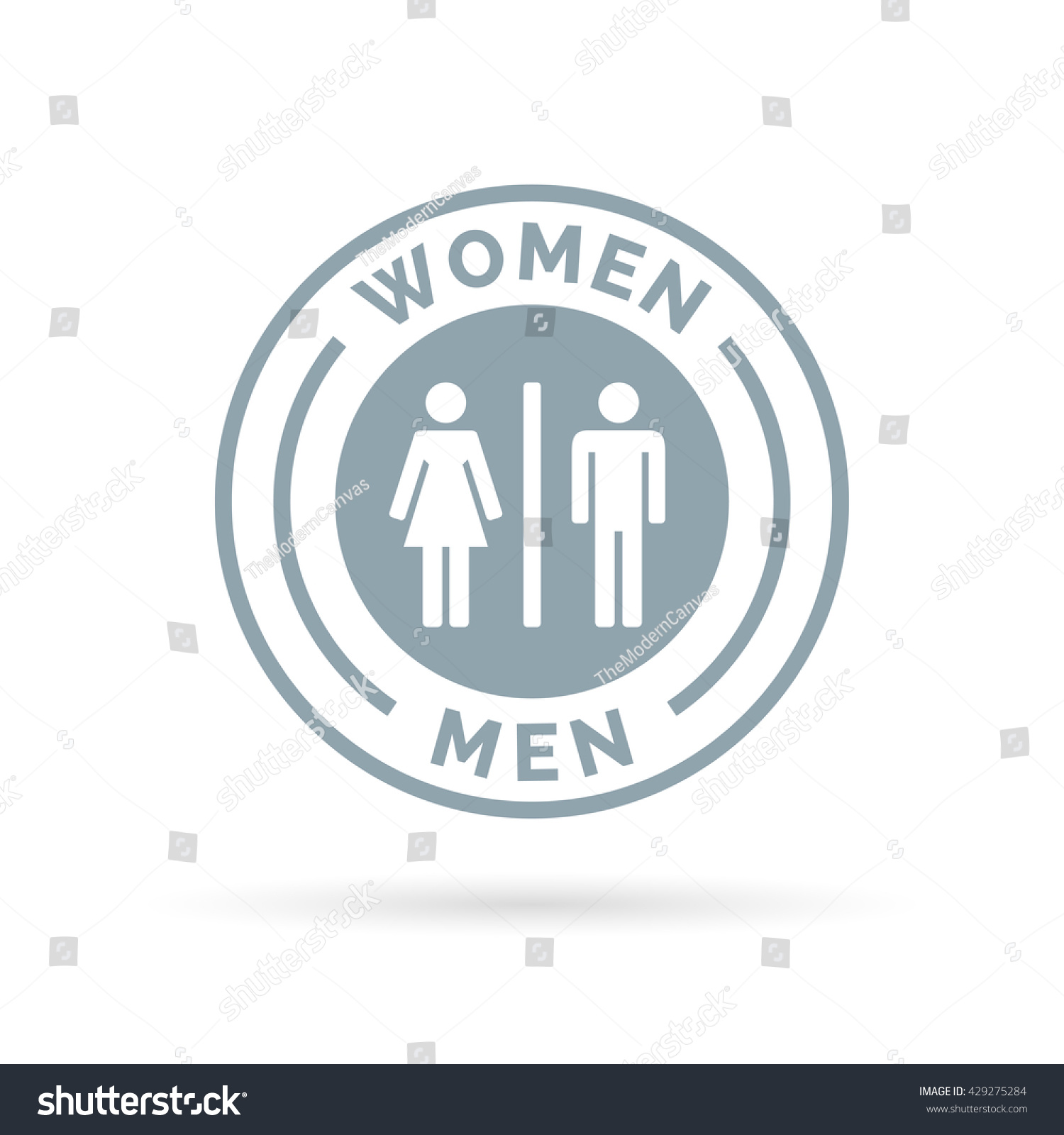Bathroom Sign Male Vector men women toilet icon male female stock vector 429275284
