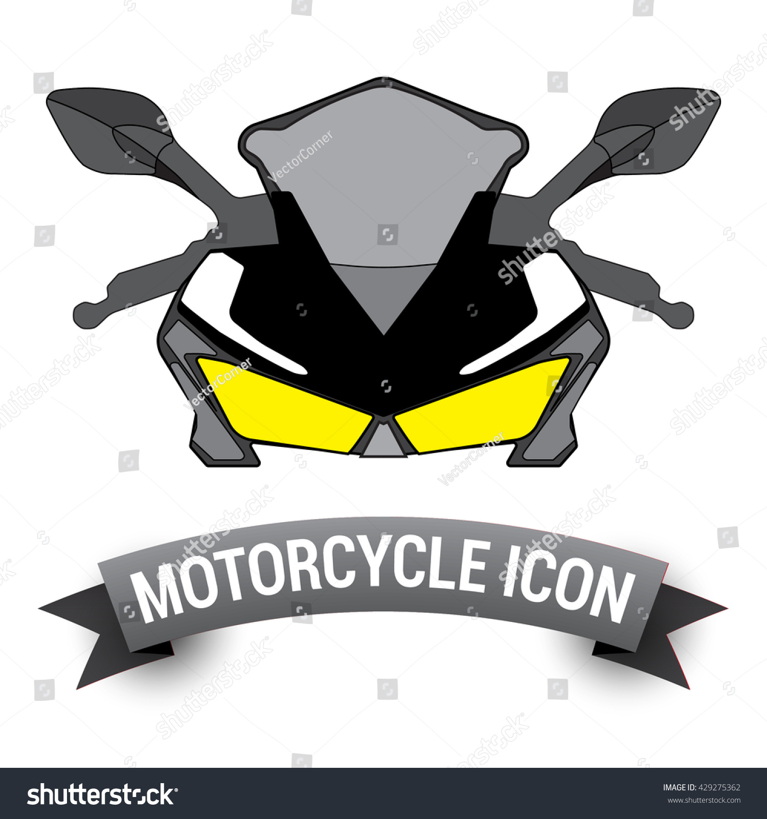 Front View Motor Bike Icon / Motorcycle Badges ...