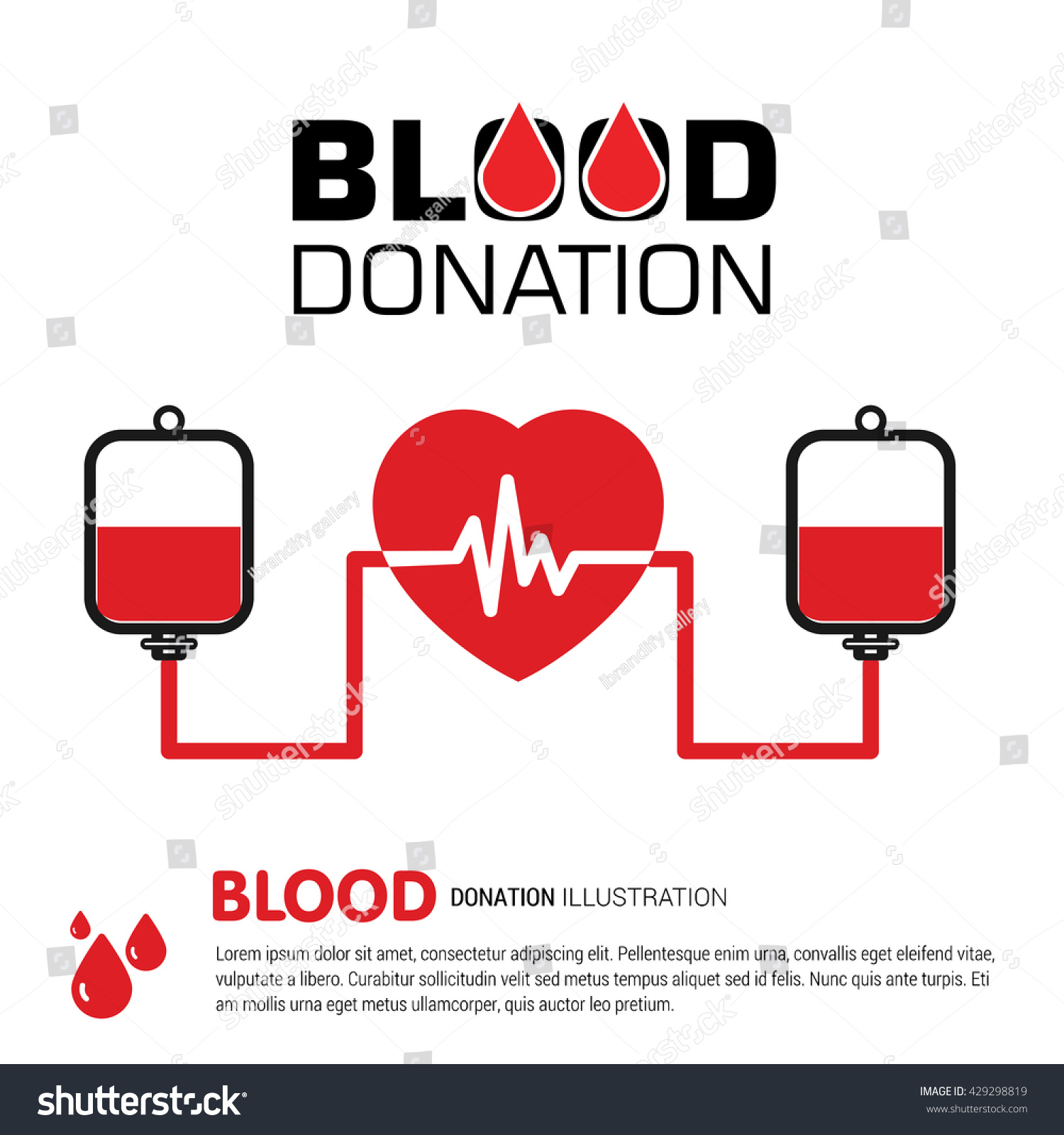 Blood Donation Blood Bank Donating Heart Stock Vector 429298819 Shutterstock