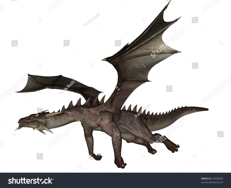 white dragon flying