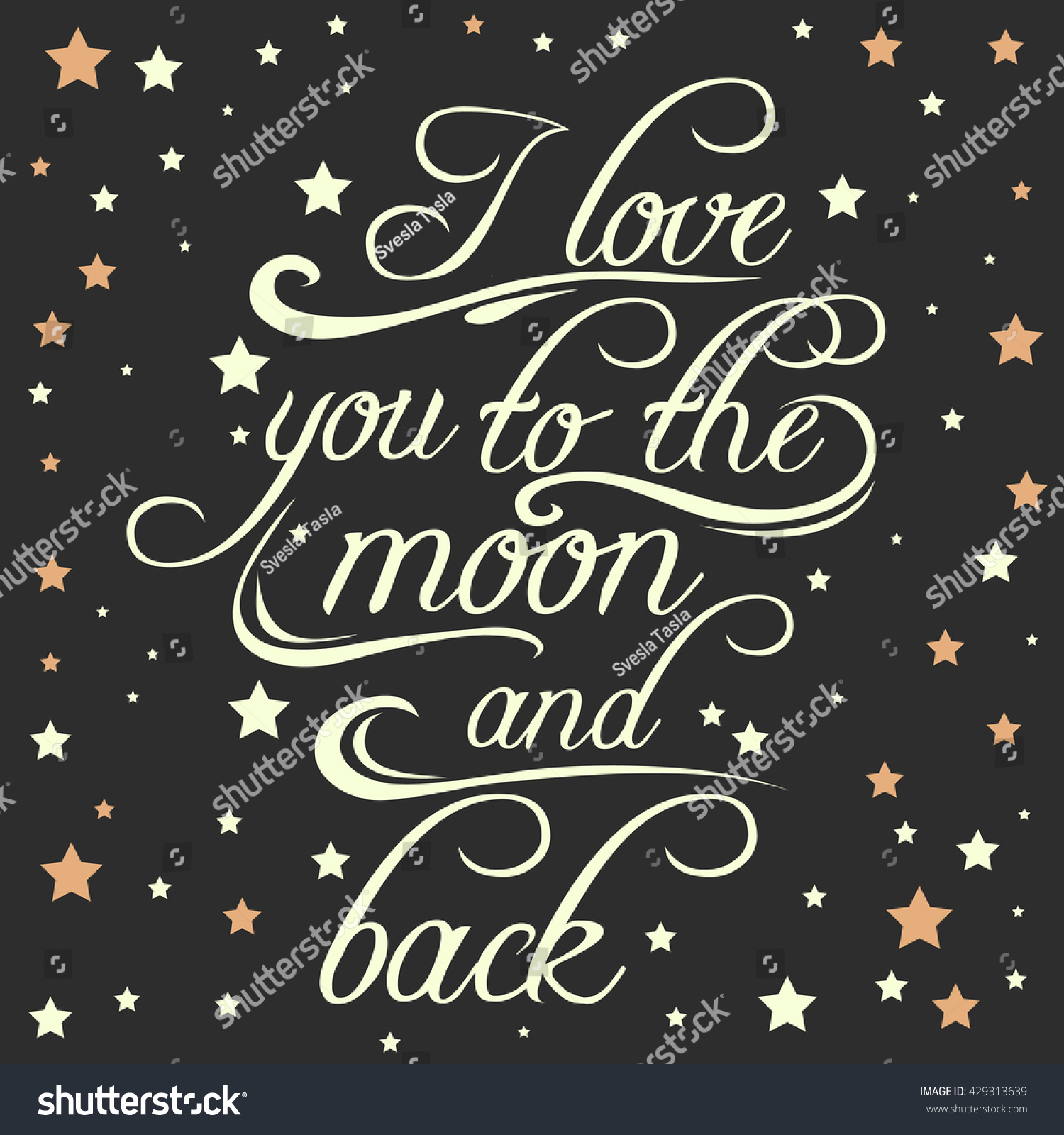 Royalty Free Stock Illustration Of Typography Poster Romantic Quote