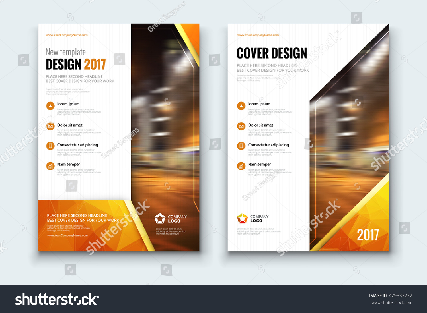 Poster design template - Poster Design Corporate Business Template For Brochure Report Catalog Magazine Layout With