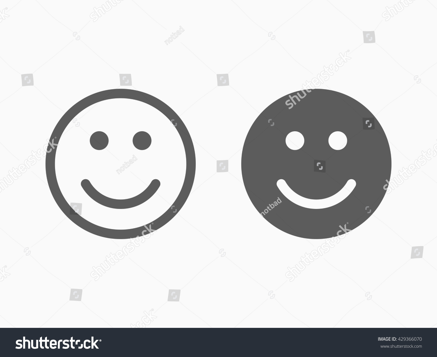 Black face app - Smile Icon In Trendy Flat Style Isolated On Grey Background Happy Face Symbol For Your