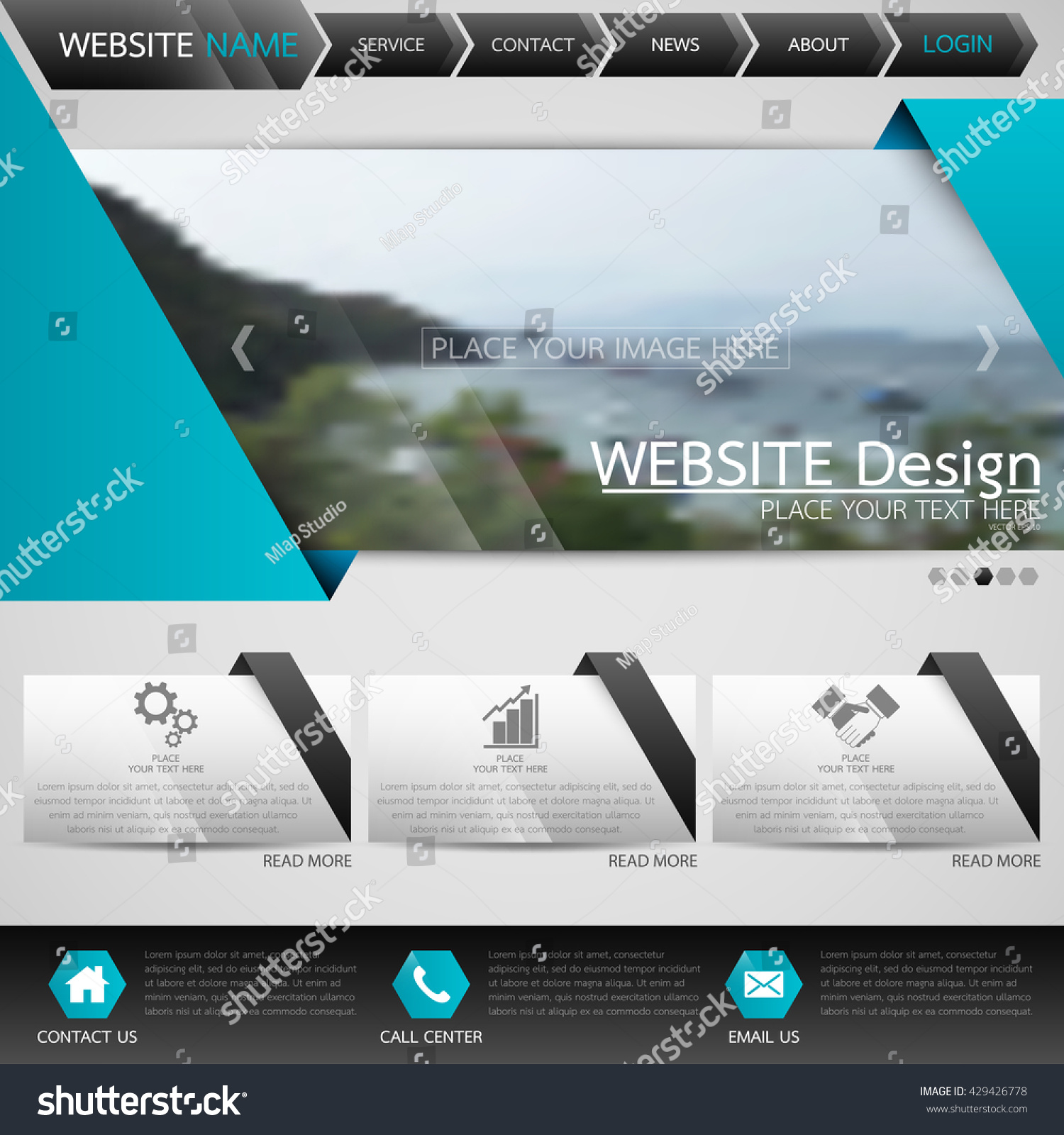 Black blue fold technology one page stock vector royalty free black and blue fold technology one page business website template background for web shop design friedricerecipe Images