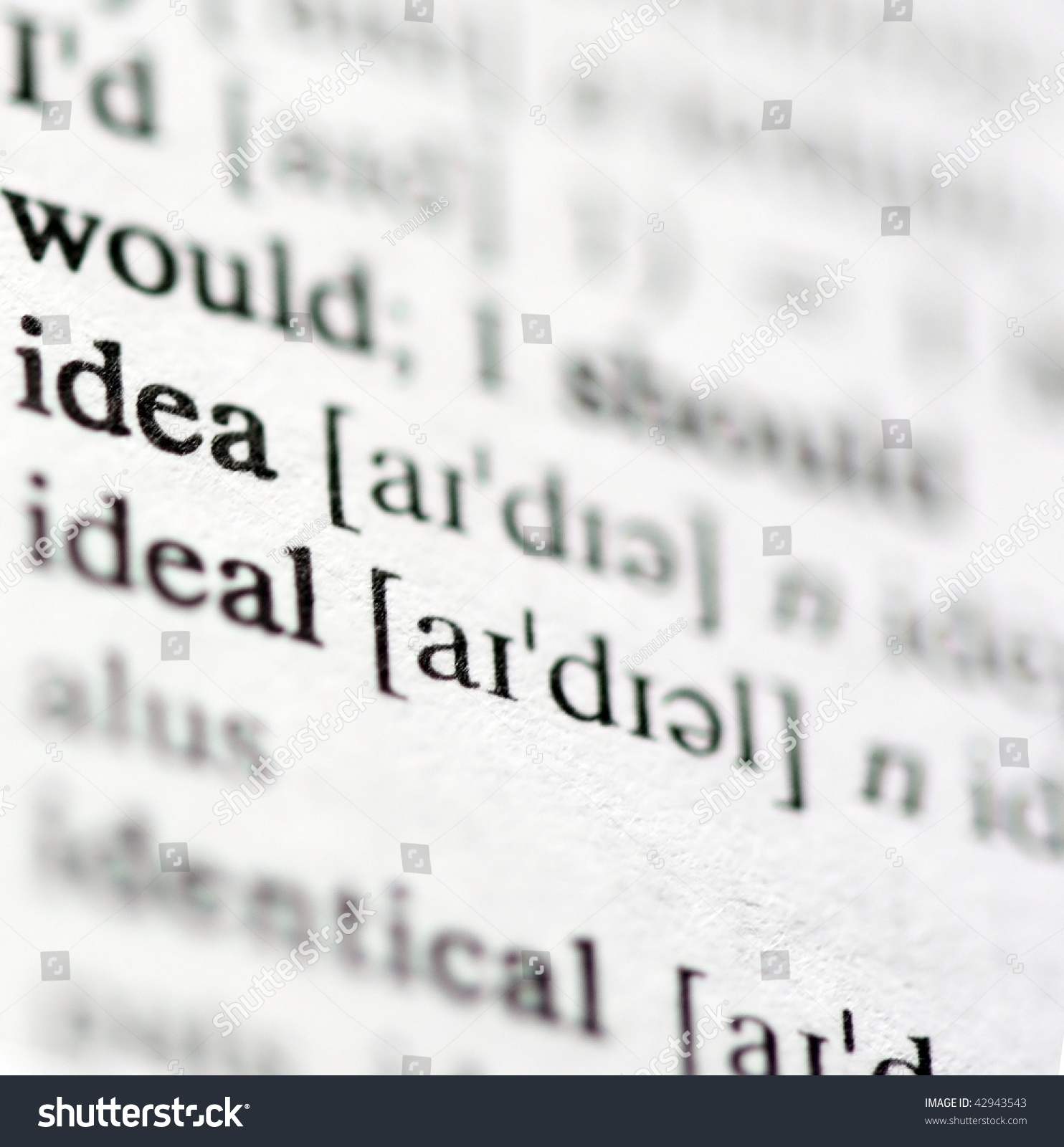 Dictionary Definitions Powerful Business Words Phrases Stock Photo
