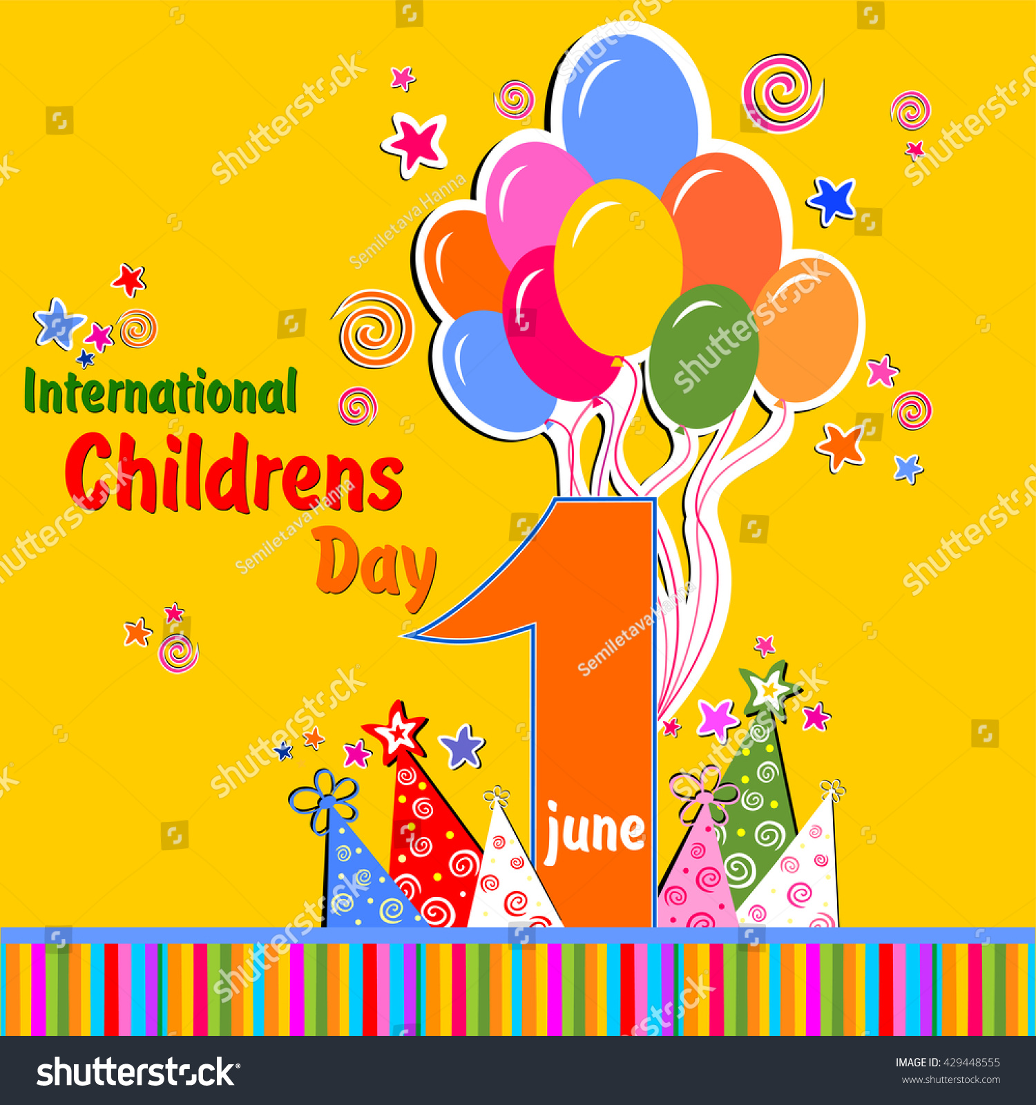 1 June International Childrens Day Background Stock Vector ...