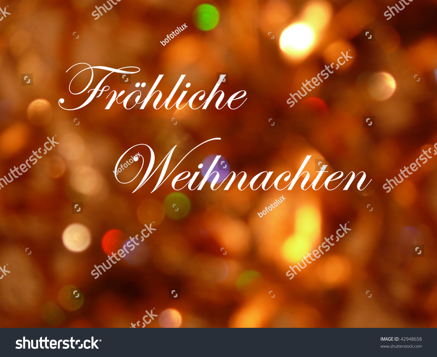 froehliche weihnachten in german language stock photo. Black Bedroom Furniture Sets. Home Design Ideas