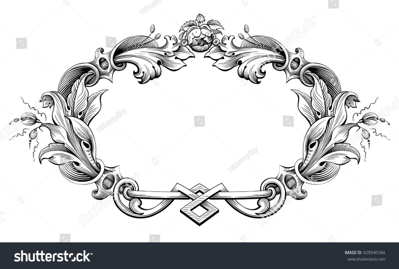 royaltyfree vintage baroque victorian frame border