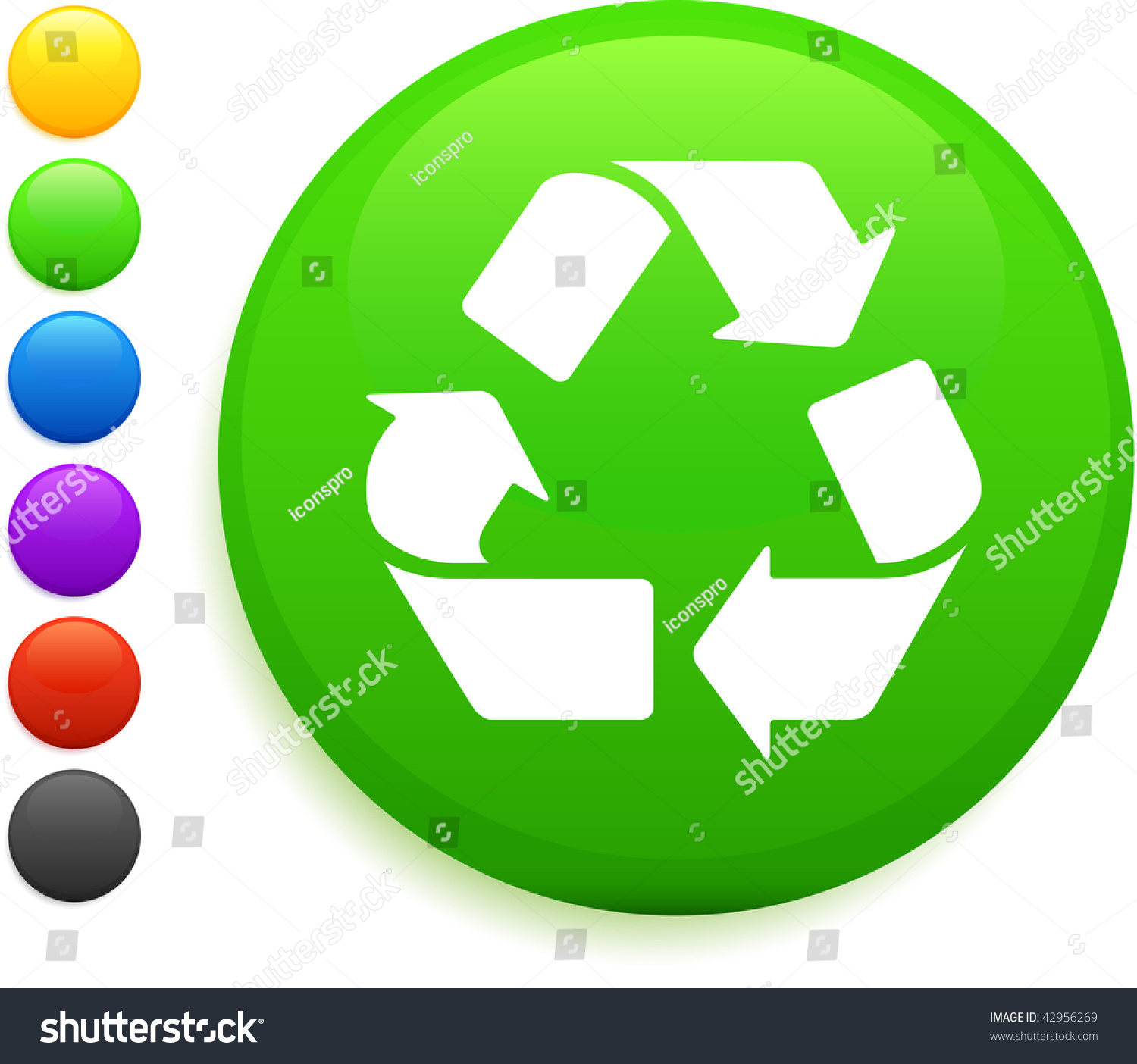 Recycle icon on round internet button stock vector 42956269 recycle icon on round internet button stock vector 42956269 shutterstock biocorpaavc