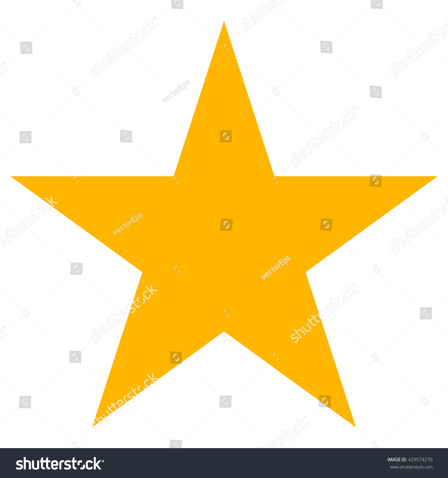 Star icon vector. Classic rank isolated. Trendy flat favorite design. Star web site pictogram, mobile app. Logo illustration. Eps10.