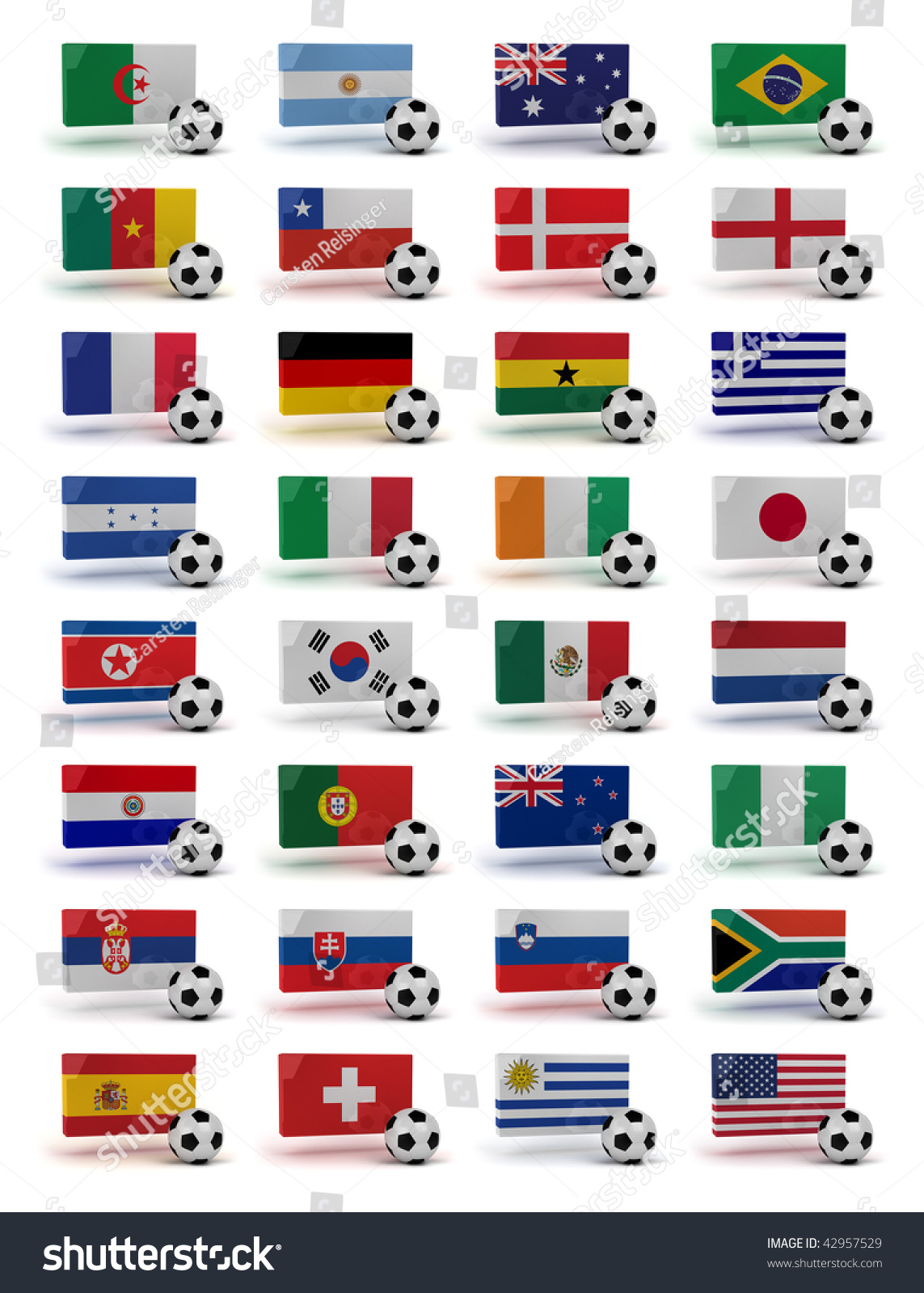 Soccer World Cup 2010 Participating Countries