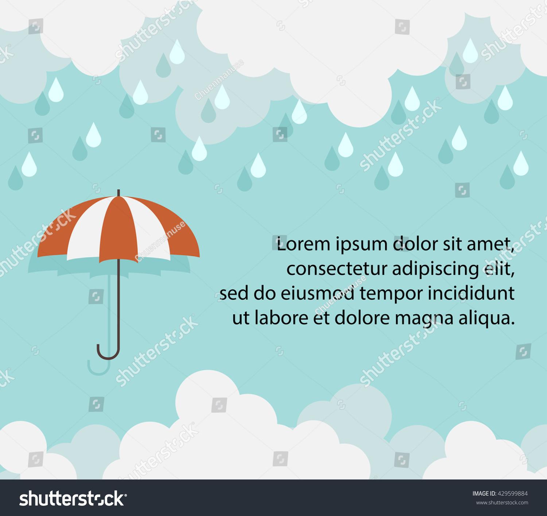 happy monsoon season background template cloud のベクター画像素材