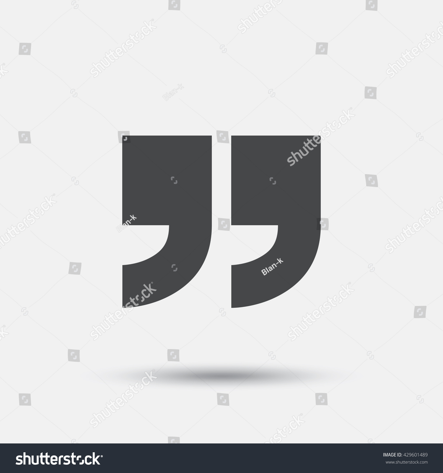 Quote Sign Icon Quotation Mark Symbol Stock Vector 429601489