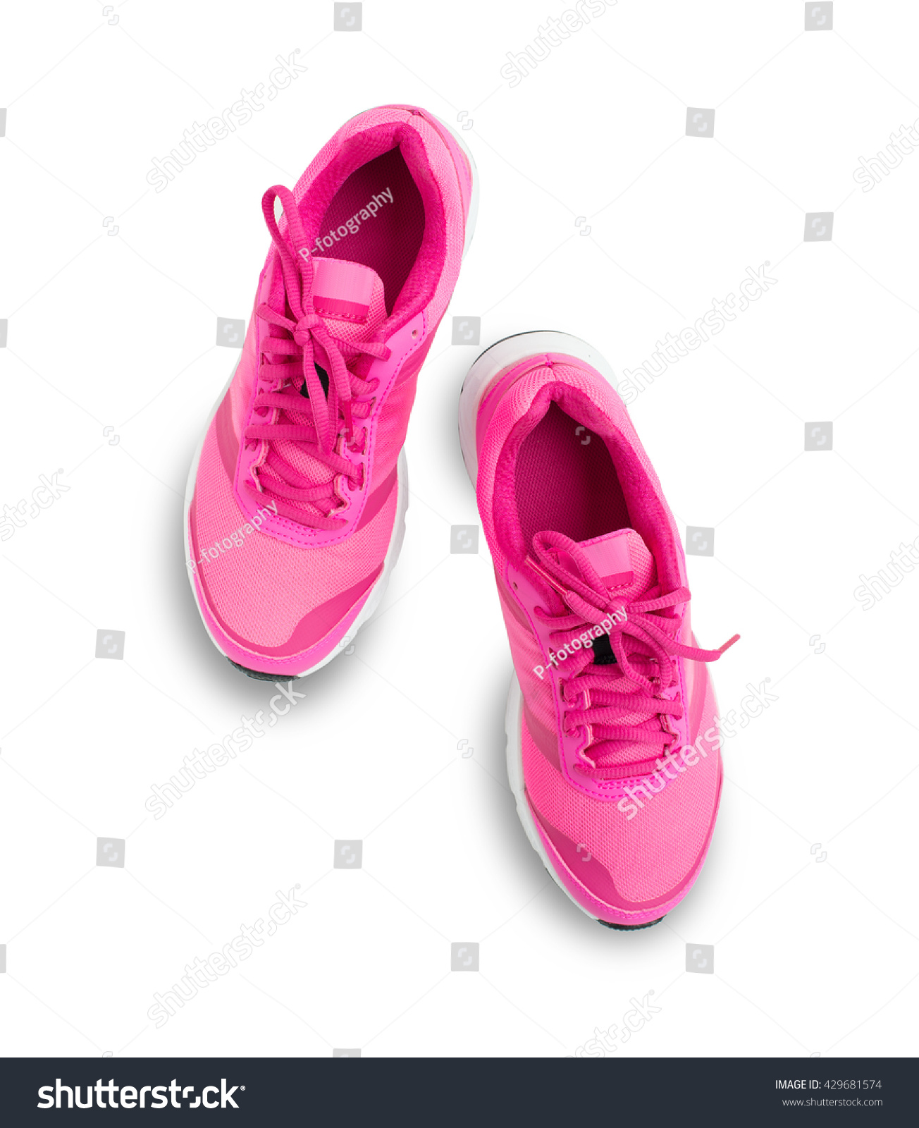 Pair Pink Sport Shoes Isolated On 写真素材 429681574 ...