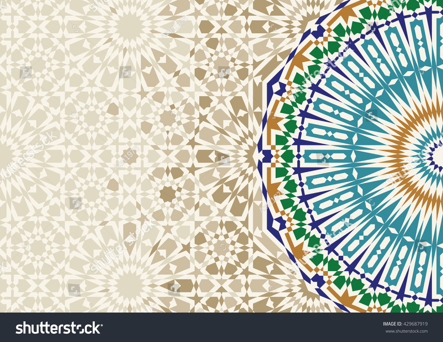 Disintegration Morocco Mosaic Abstract Template Arabic ...