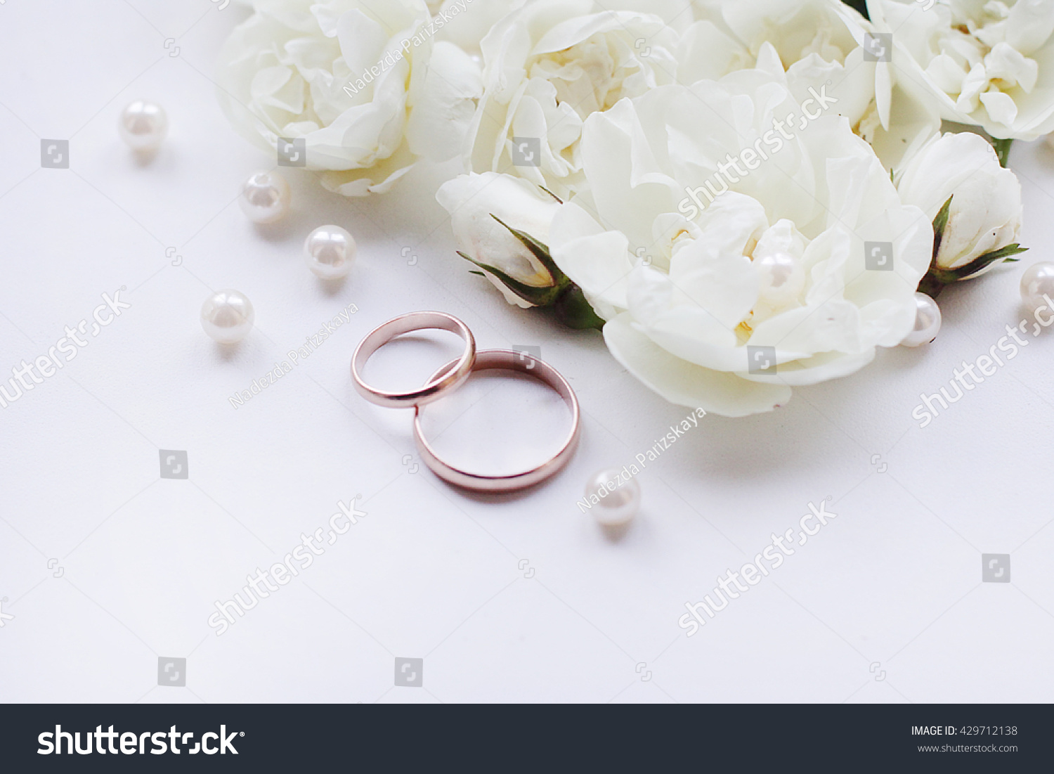 Wedding Background Invitations Other Gold Rings Stock Photo (Royalty ...