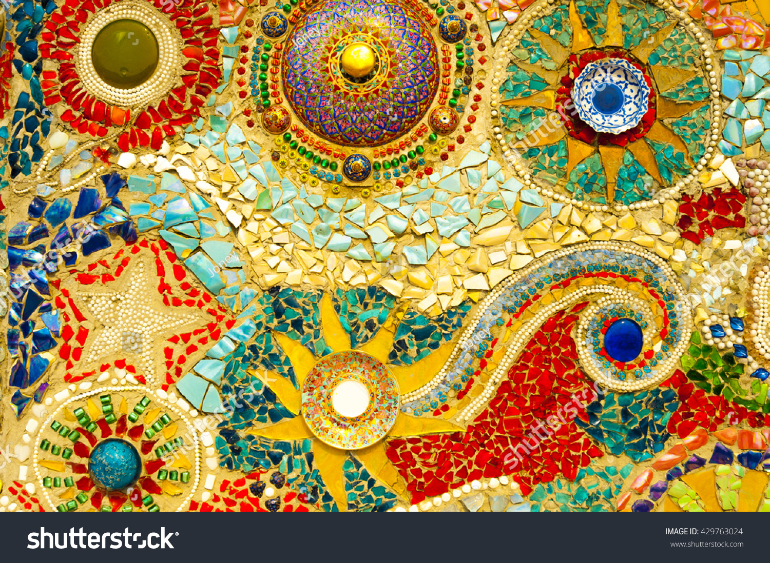 Funky Glass Mosaic Wall Art Illustration - The Wall Art Decorations ...