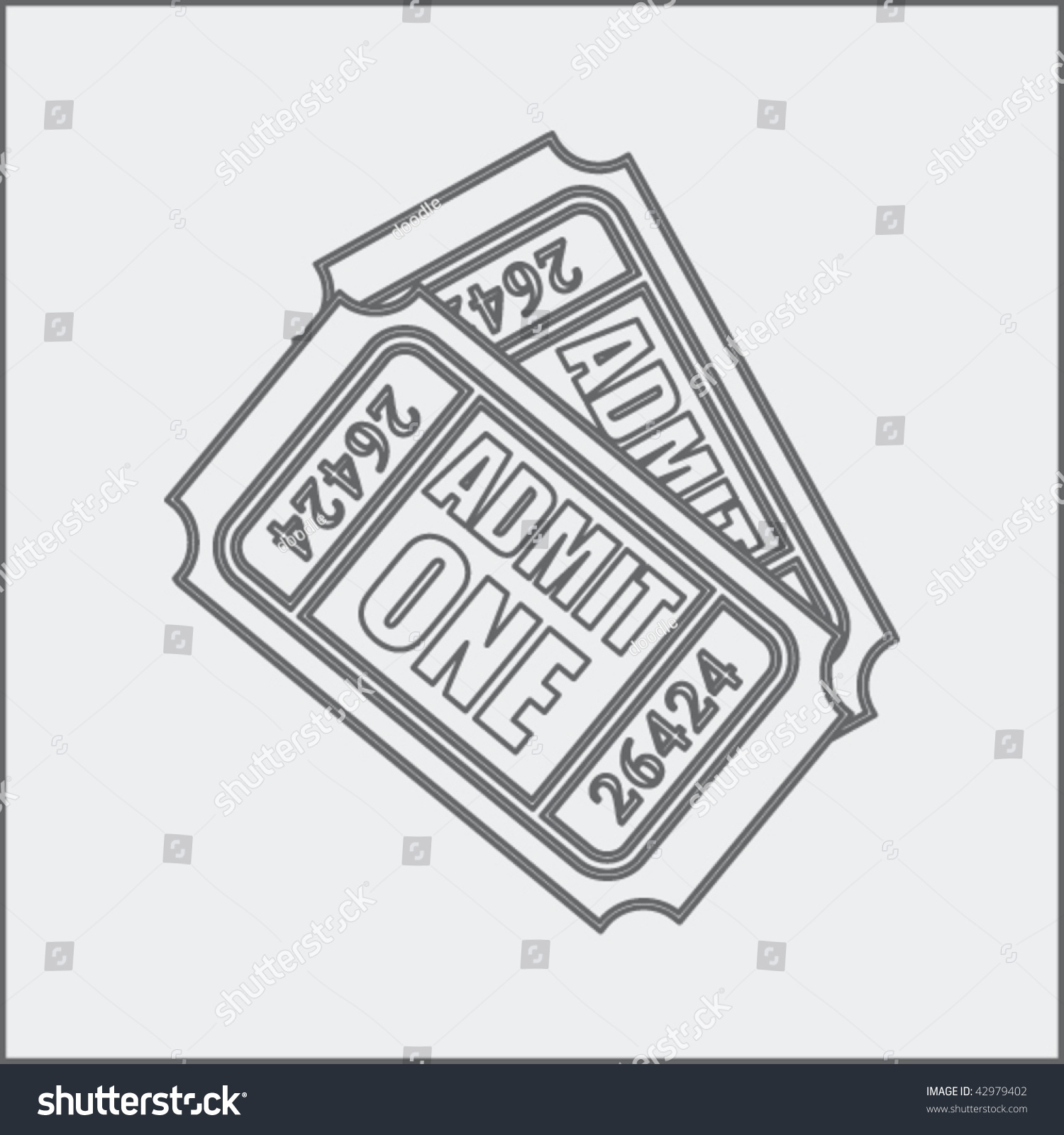 admission ticket drawing stock vector 42979402 shutterstock admission ticket drawing