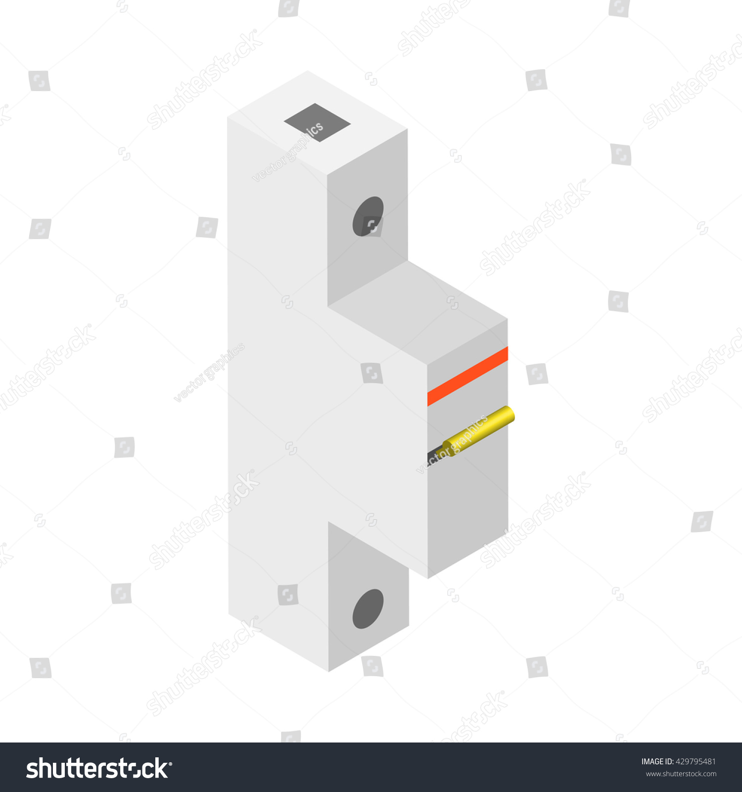 Breaker Vector Illustration Circuit Your Stock A In Home The For Automatic Isolated
